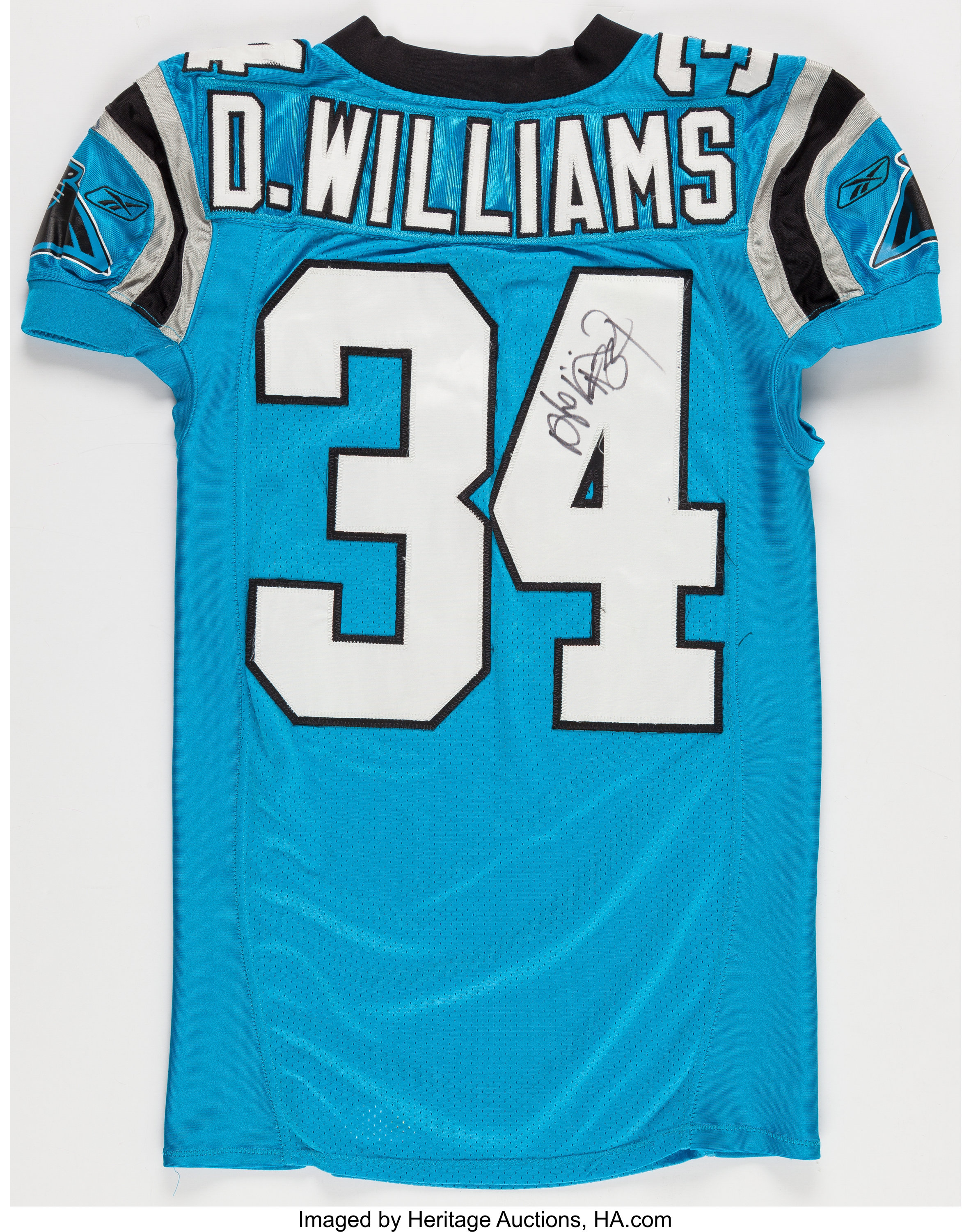 2006 DeAngelo Williams Game Worn, Unwashed and Signed Carolina ...