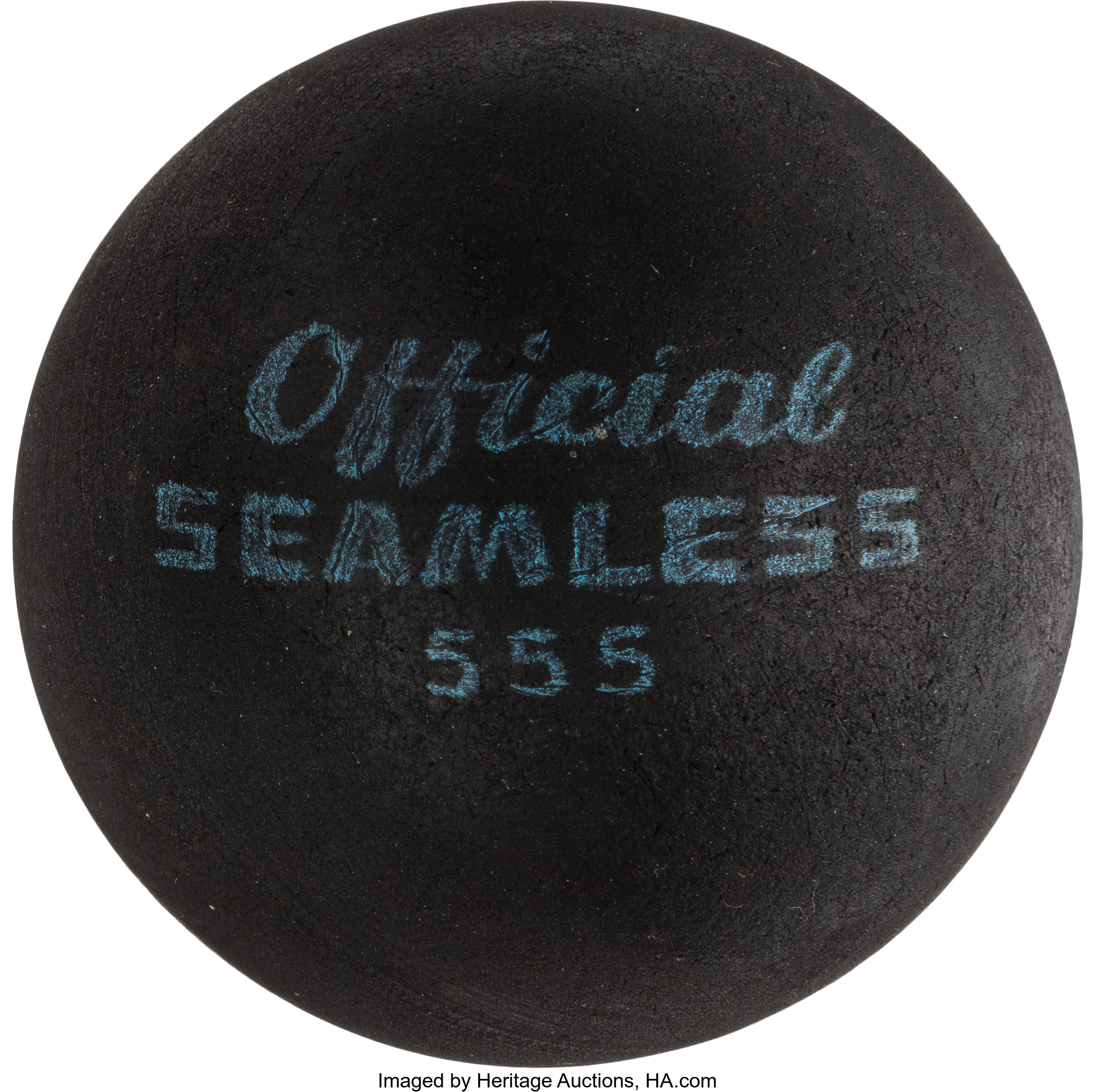 A Small Black Rubber Handball from from