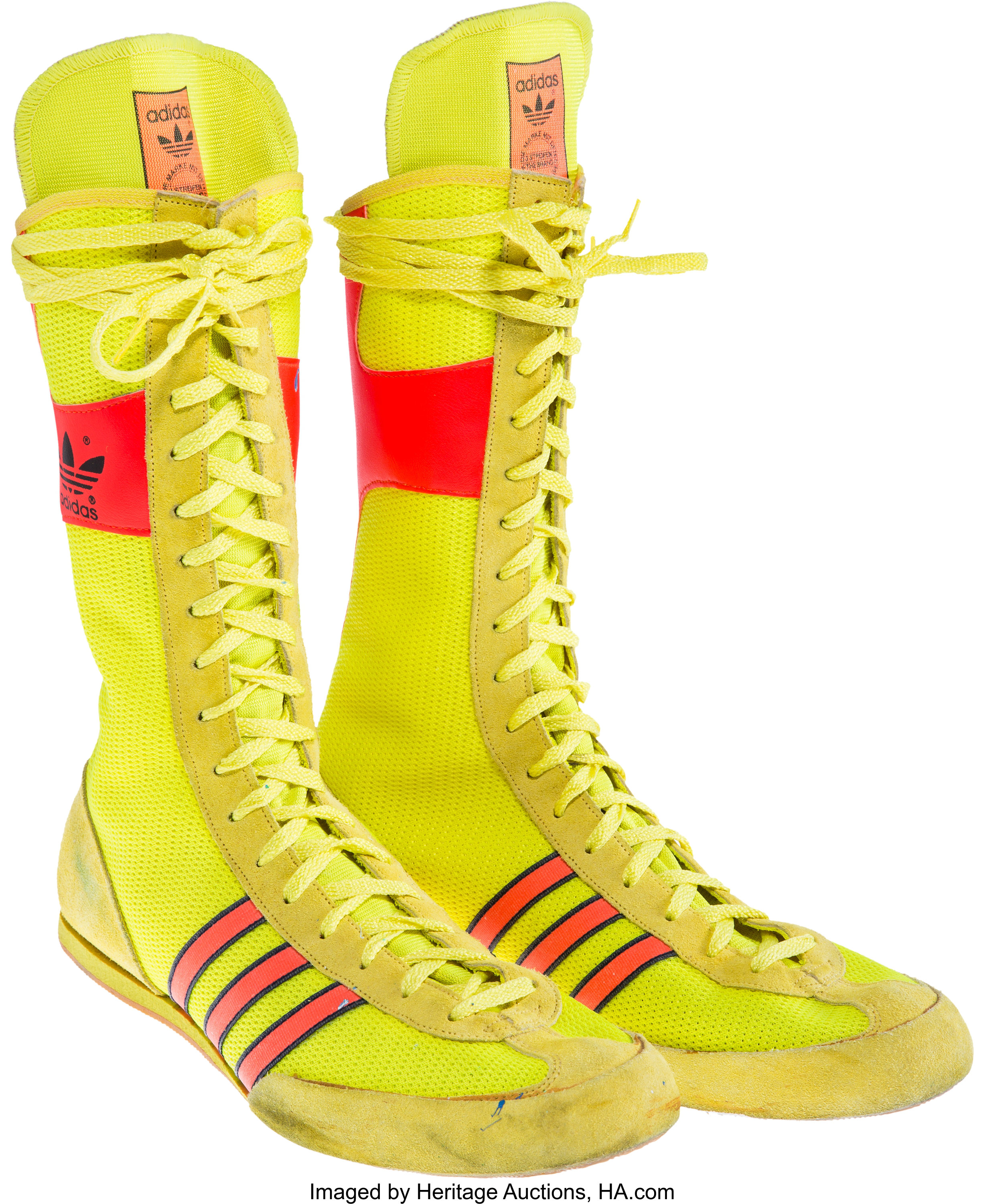 A Pair of Boxing Shoes Related to