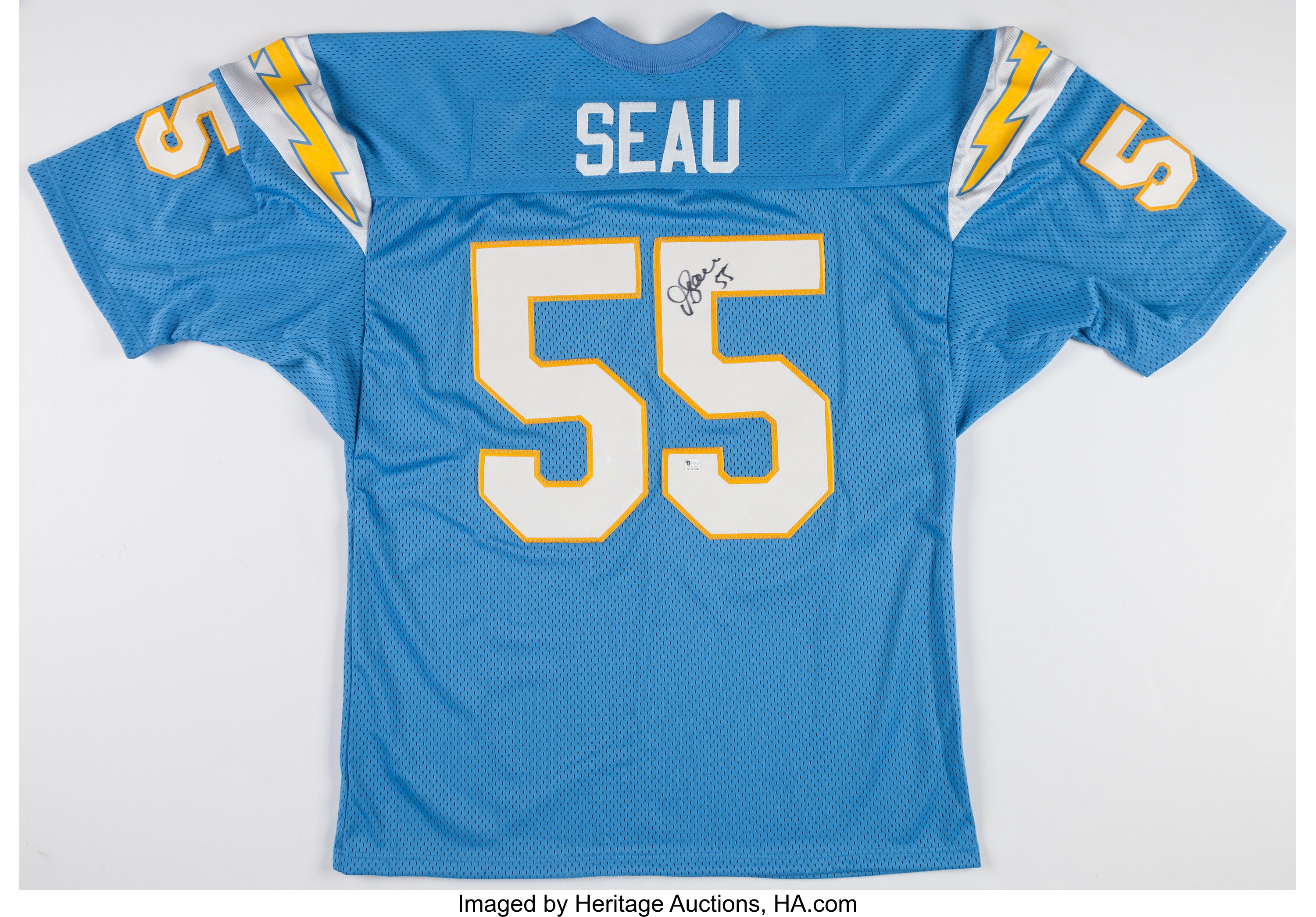 Junior Seau Signed San Diego Chargers Jersey.... Football | Lot ...