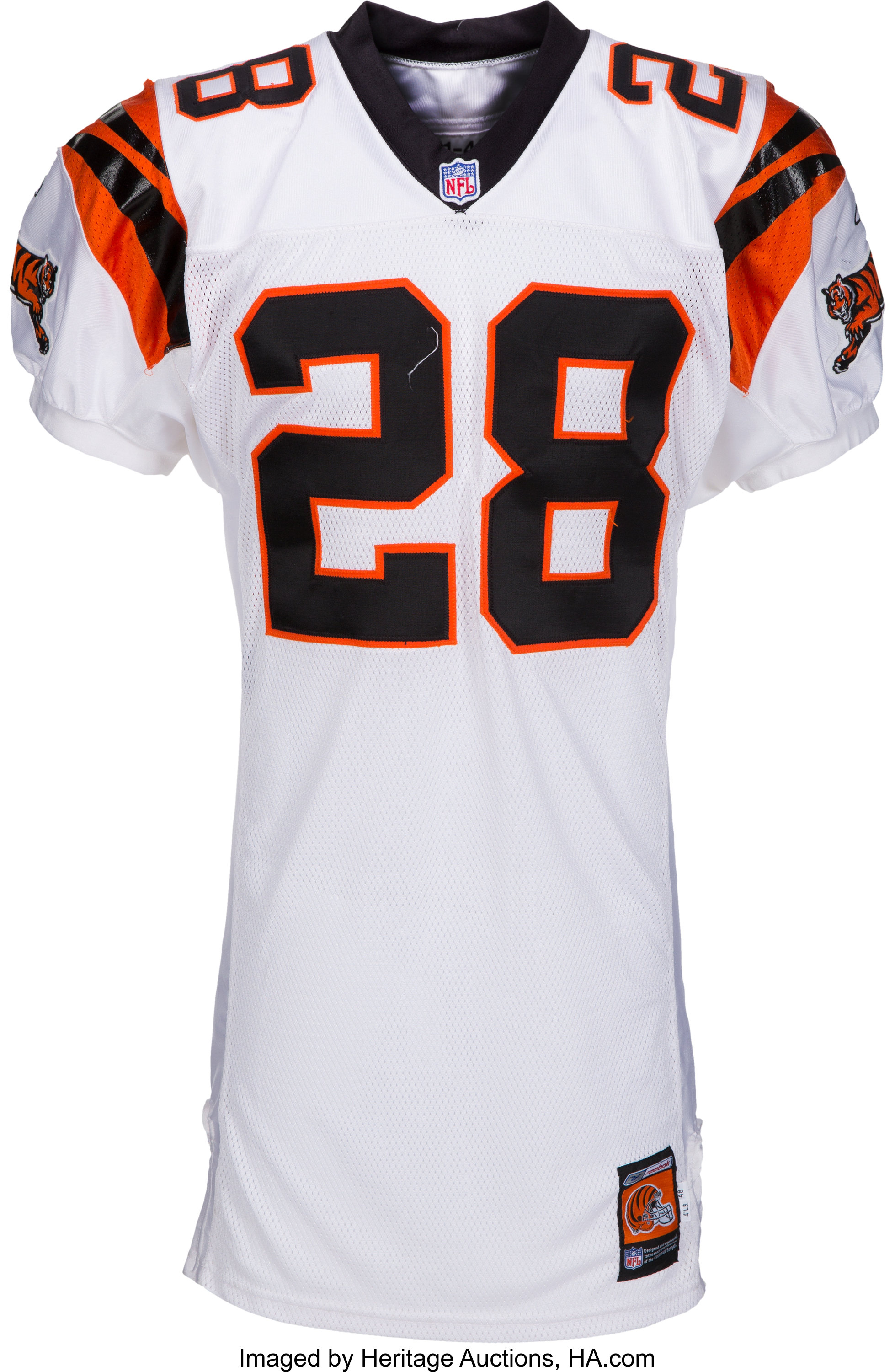 2001 Corey Dillon Game Worn Cincinnati Bengals Jersey and Pants