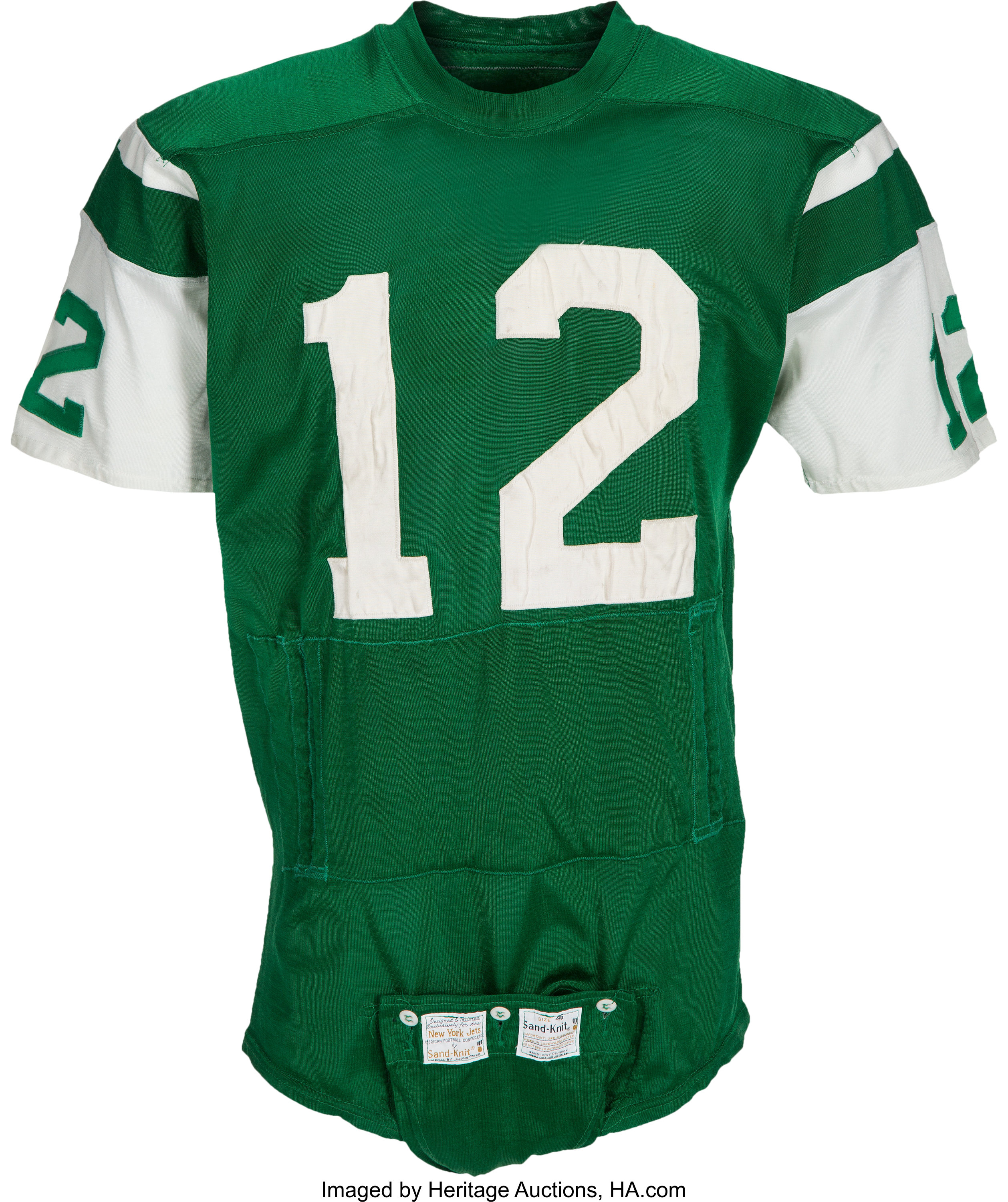 1970 73 Joe Namath Game Worn New York Jets Jersey, MEARS A10  free shipping