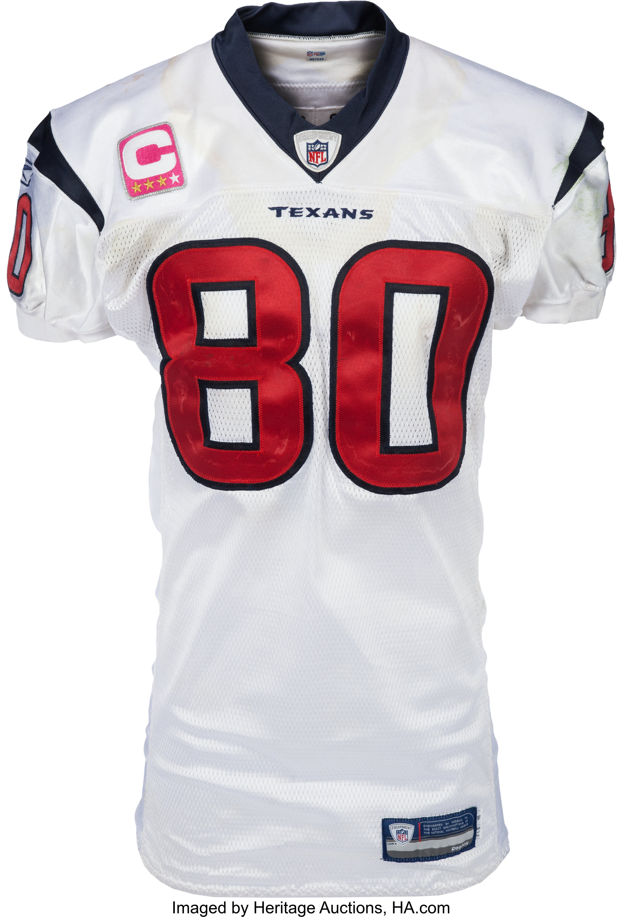2009 Andre Johnson Game Worn & Signed Houston Texans Jersey with ...