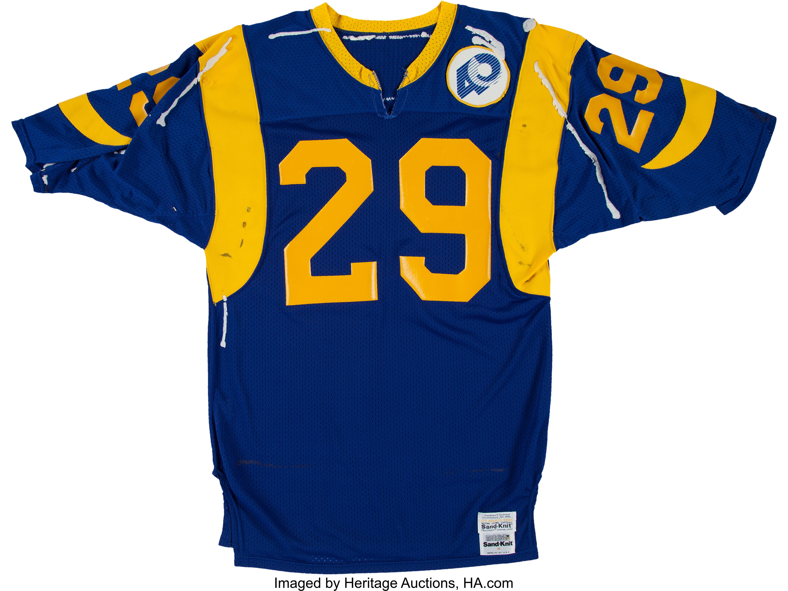 1985 Eric Dickerson Game Worn, Signed Los Angeles Rams Jersey ...