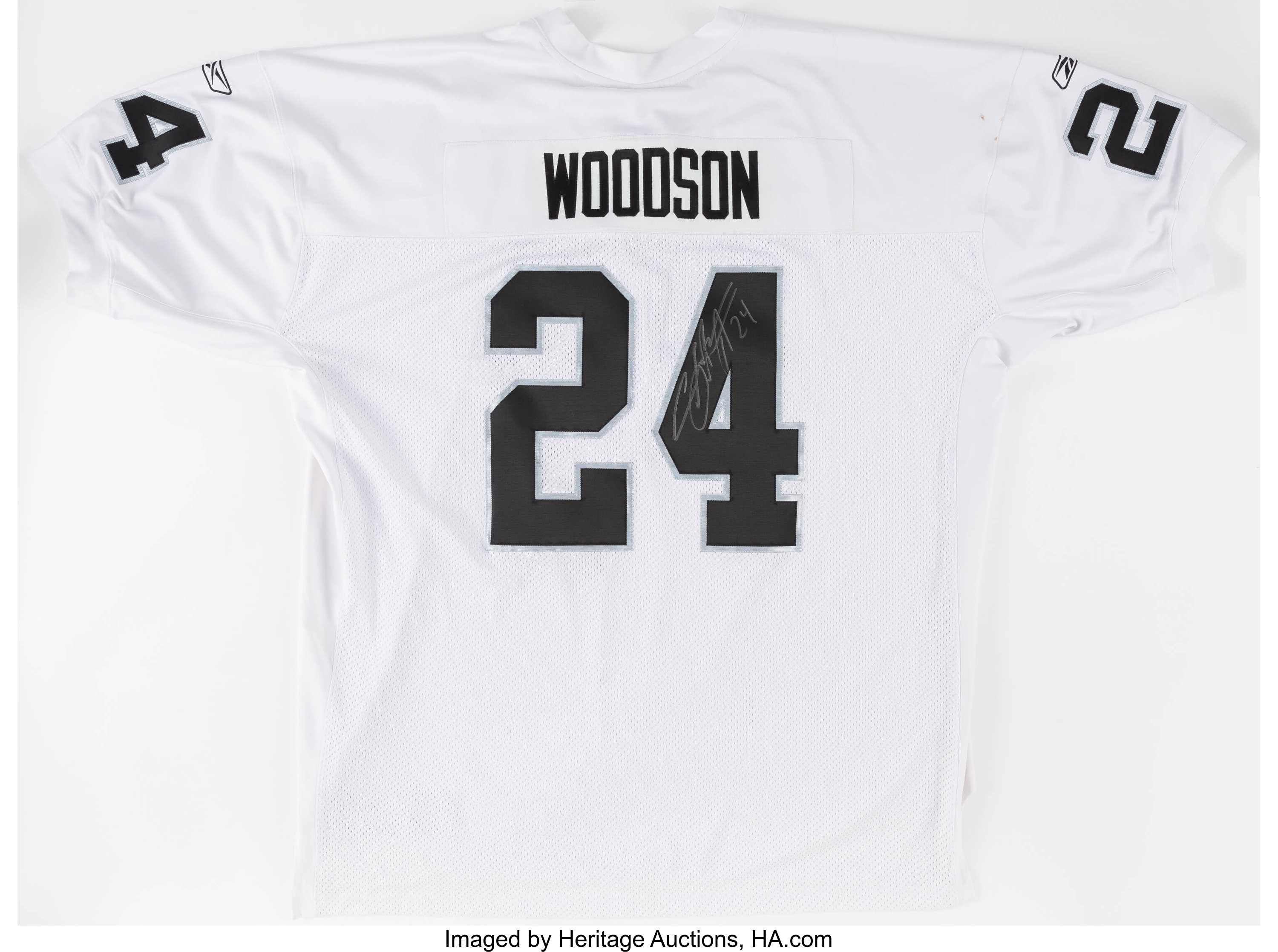 Charles Woodson Signed Oakland Raiders Jersey. ... Football | Lot ...