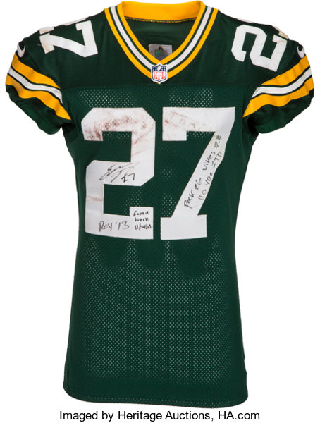2013 Eddie Lacy Game Worn, Unwashed Green Bay Packers Jersey ...