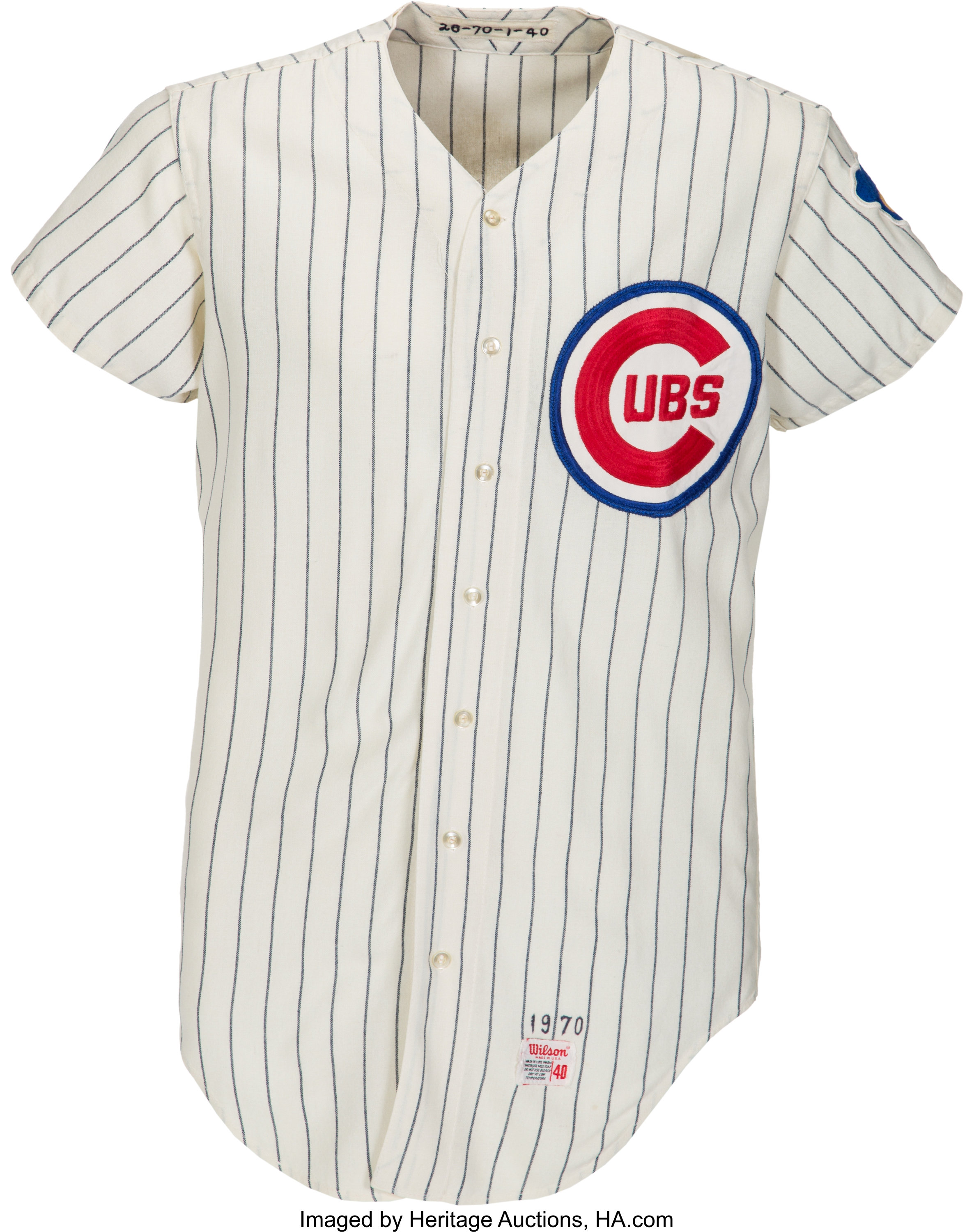 1970 Billy Williams Game Worn Chicago Cubs Jersey.... Baseball ...