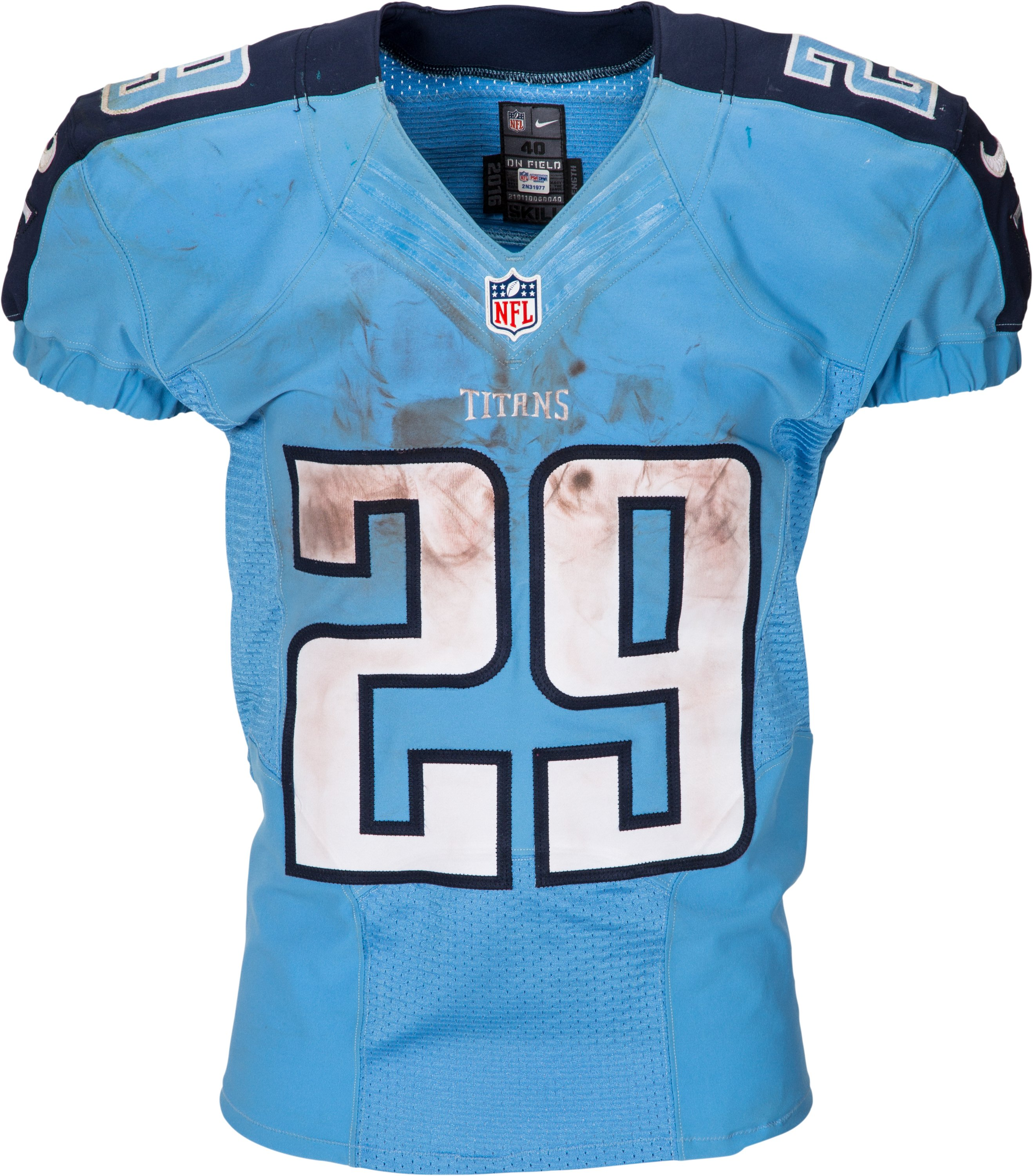2016 DeMarco Murray Game Worn, Signed, Unwashed Tennessee Titans ...