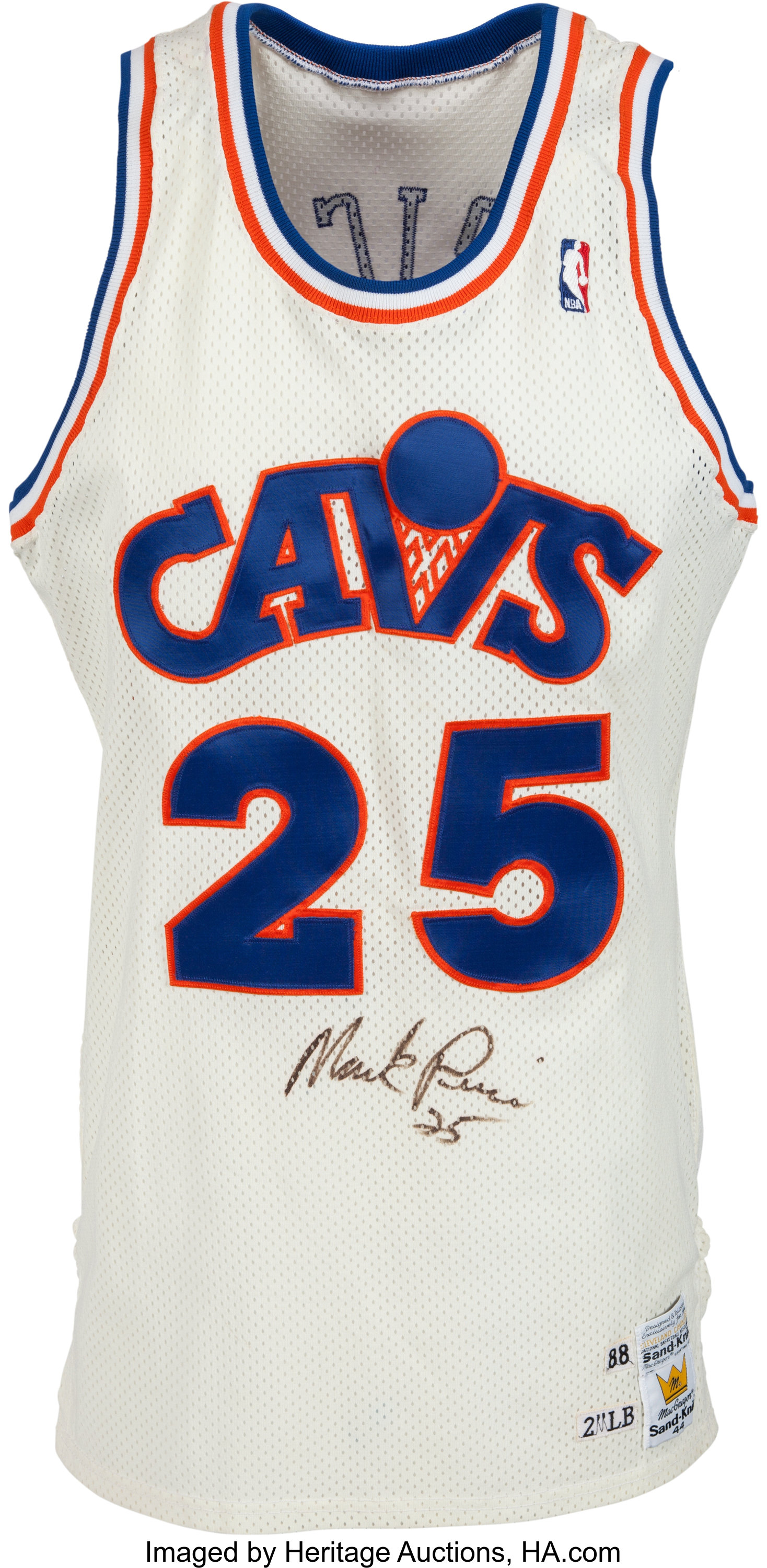 1988-89 Mark Price Game Worn Cleveland Cavaliers Jersey. ... | Lot ...