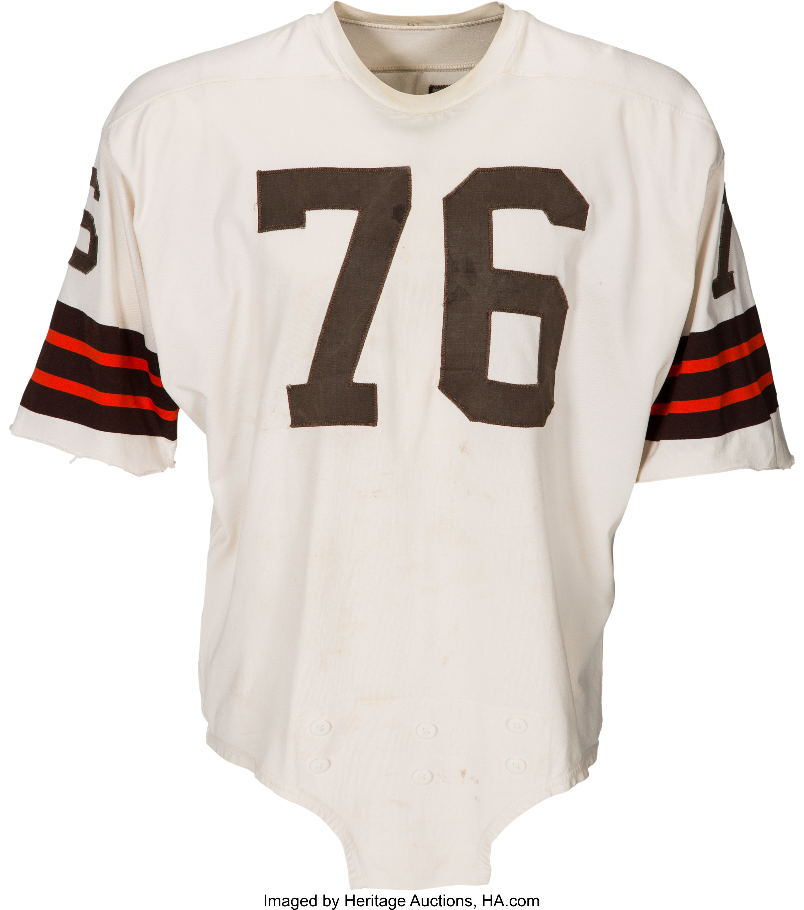 1964 Lou Groza Game Worn Cleveland Browns Jersey. Football | Lot