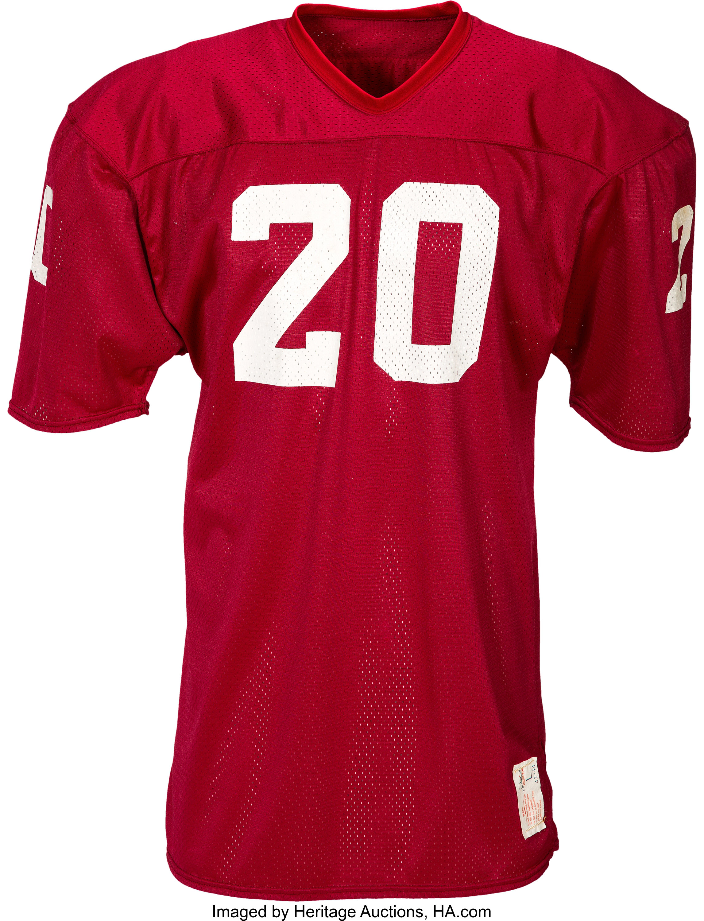 1976-79 Billy Sims Game Worn, Unwashed Oklahoma Sooners Jersey ...