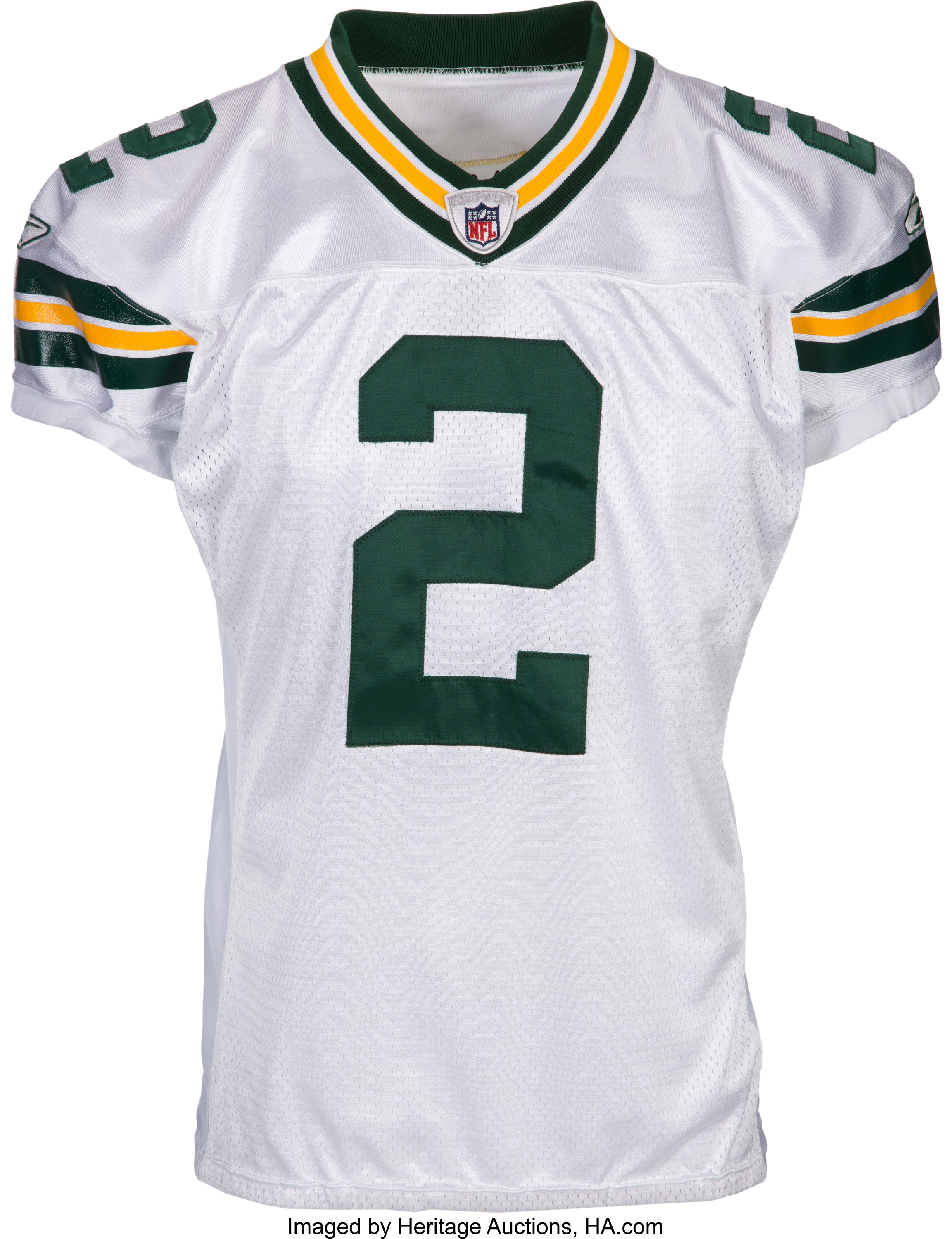 2008 Mason Crosby Game Worn & Signed Green Bay Packers Jersey ...