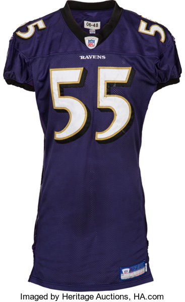 2006 Terrell Suggs Game Worn & Signed Baltimore Ravens Jersey ...