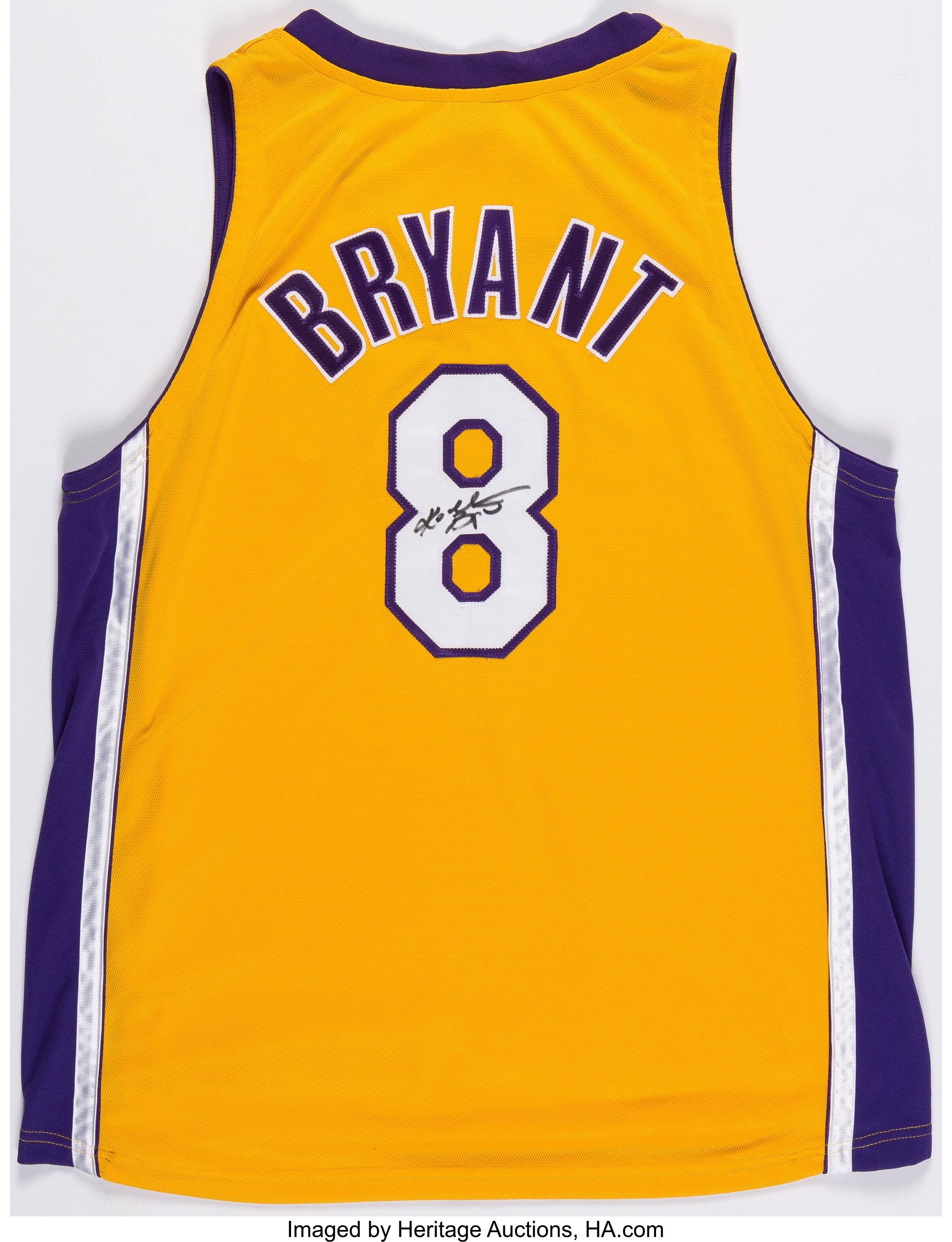 2000's Kobe Bryant Signed Los Angeles Lakers Jersey.... Basketball ...
