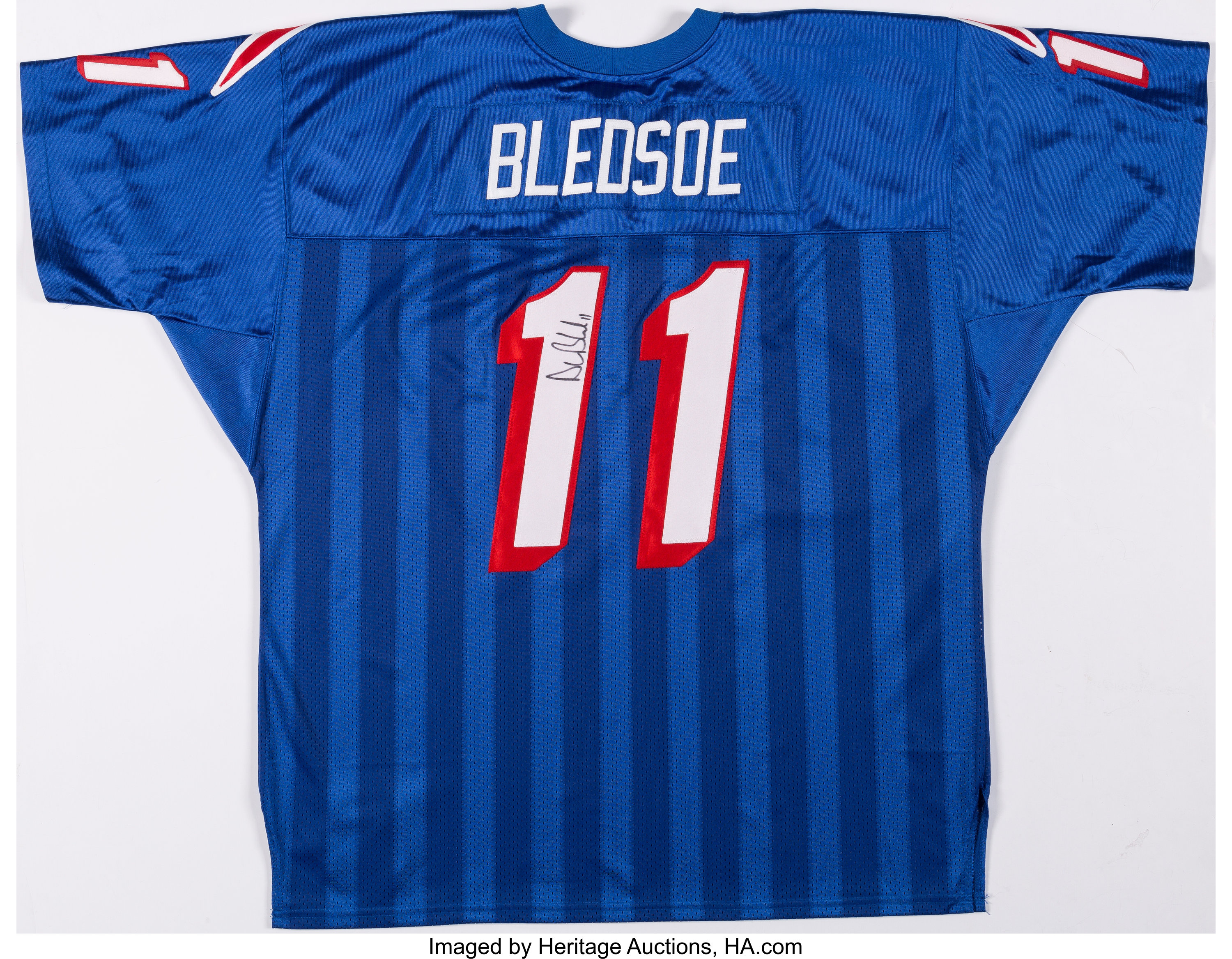 Drew Bledsoe Signed New England Patriots Jersey. ... Football ...