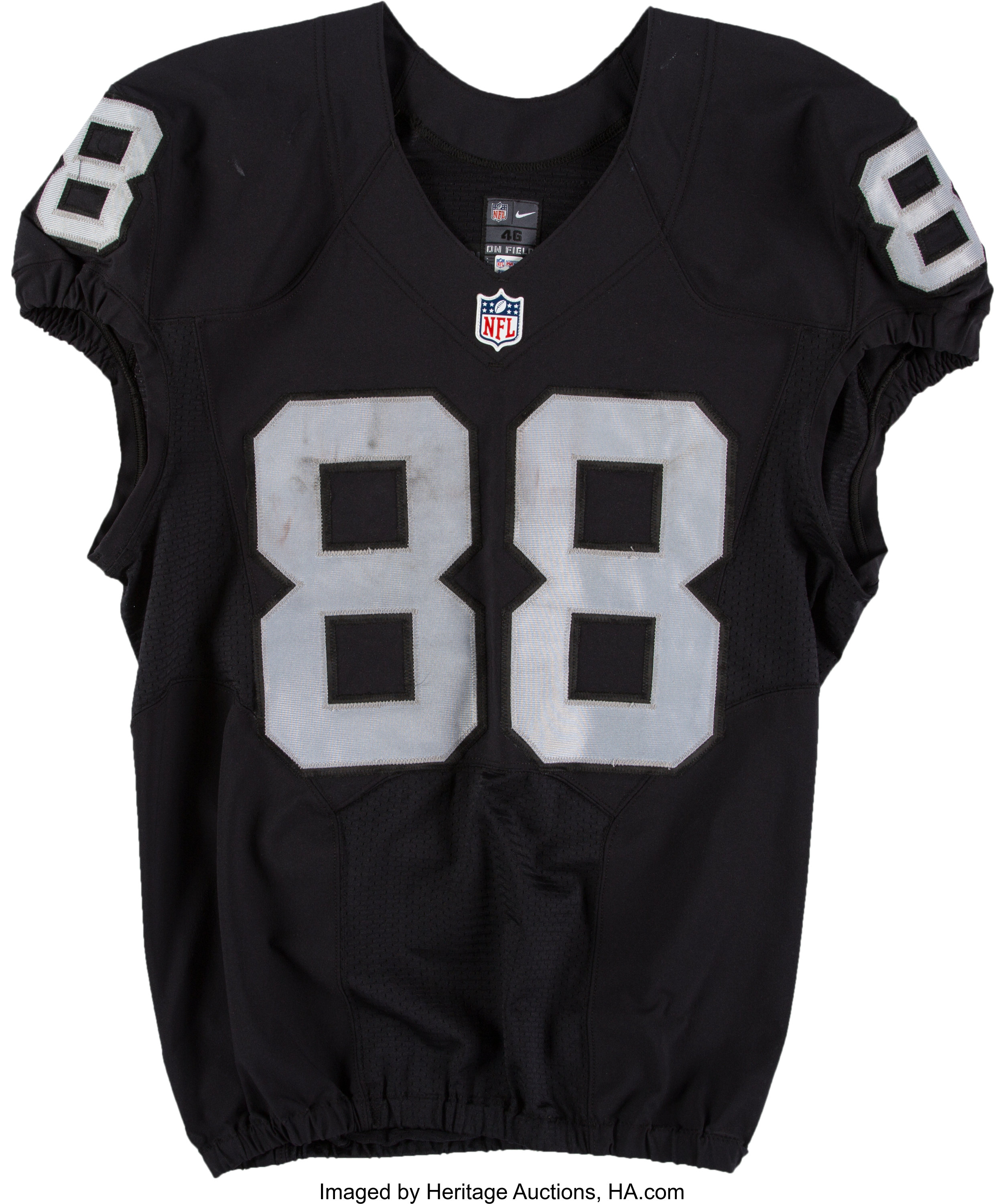 2016 Clive Walford Game Worn, Unwashed Oakland Raiders Jersey ...