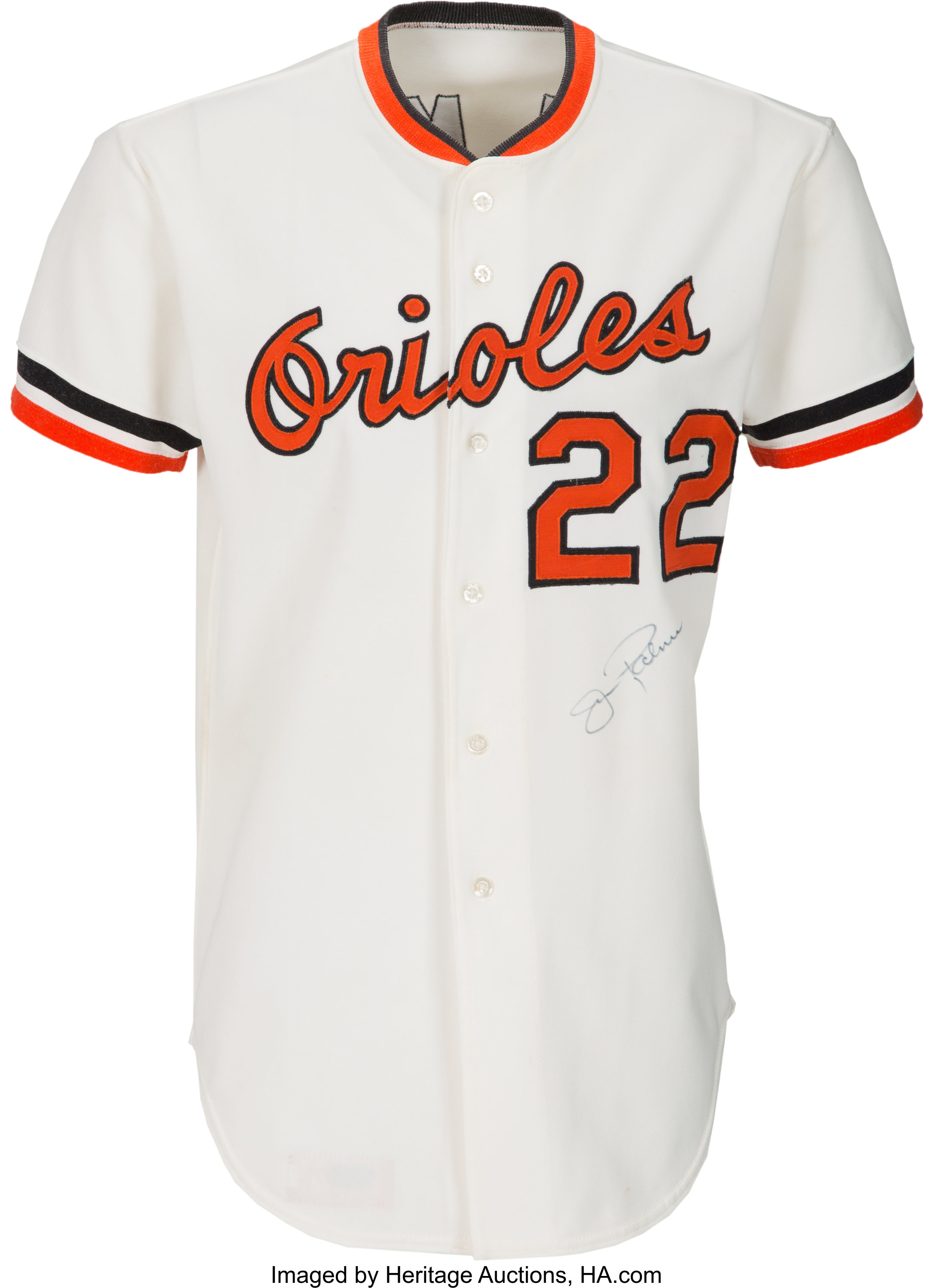 1975 Jim Palmer Game Worn & Signed Baltimore Orioles Jersey--Cy ...