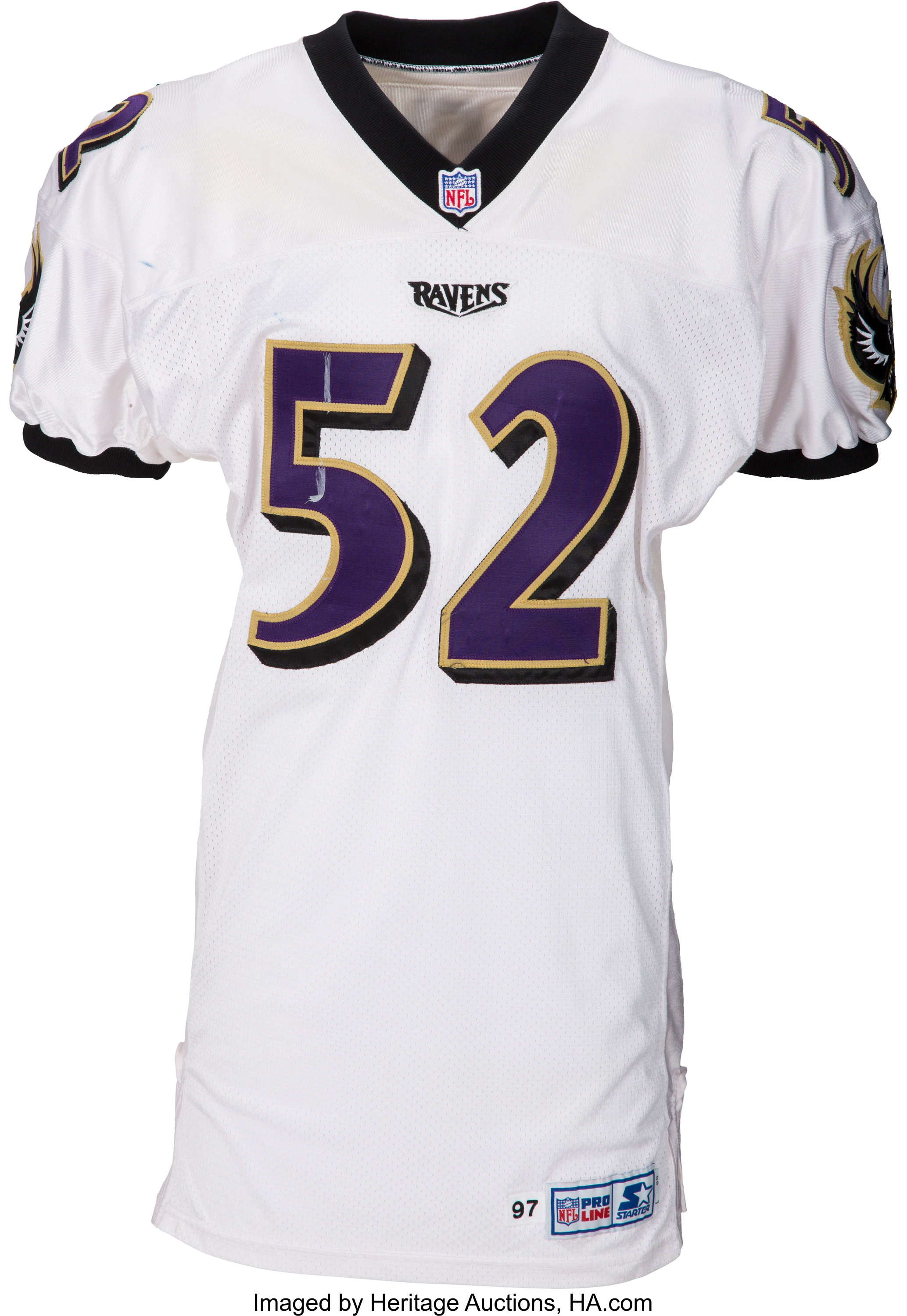 1997 Ray Lewis Game Worn Baltimore Ravens Jersey - Loaded with ...