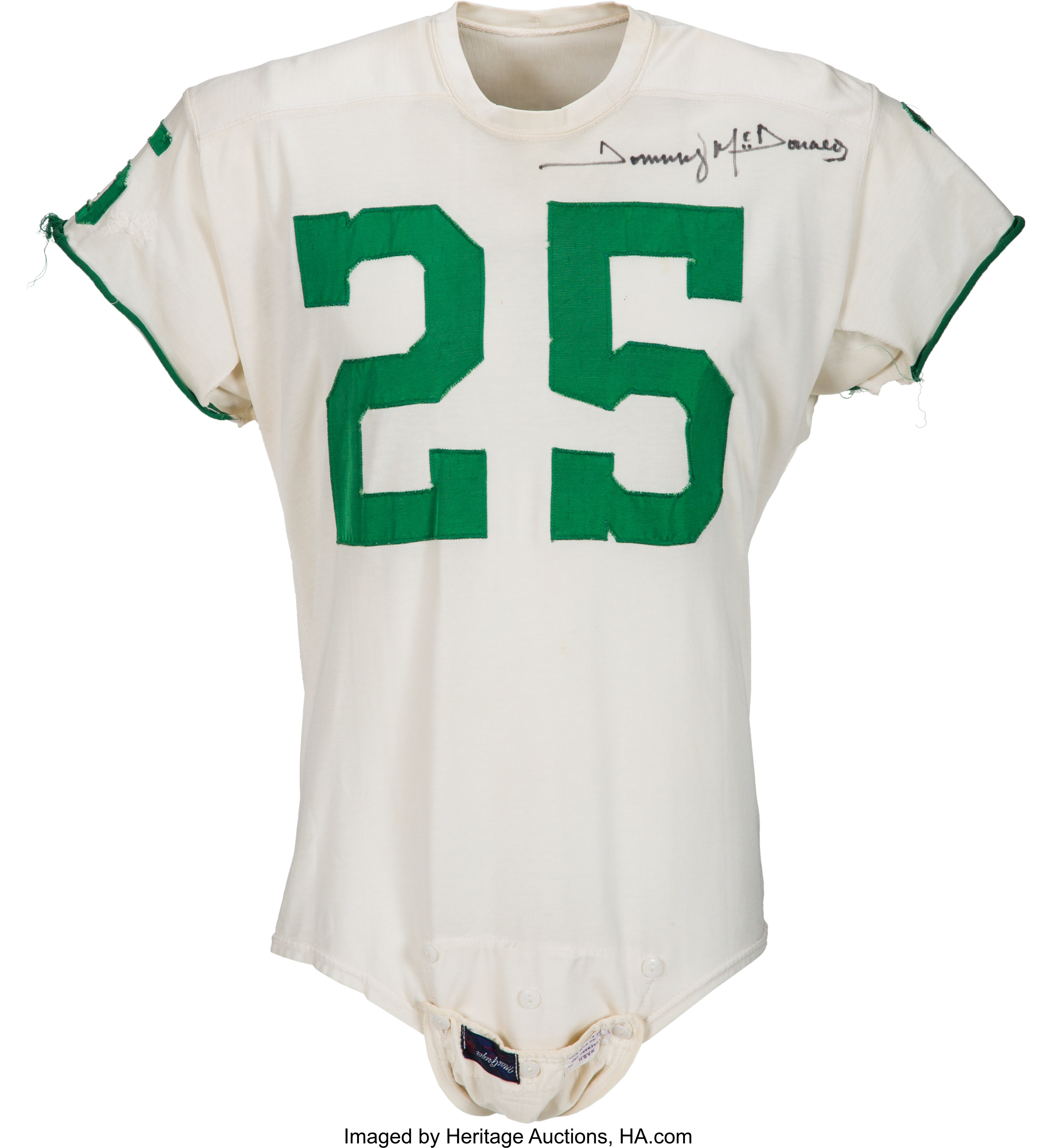 Early 1960's Tommy McDonald Game Worn & Signed Philadelphia Eagles ...