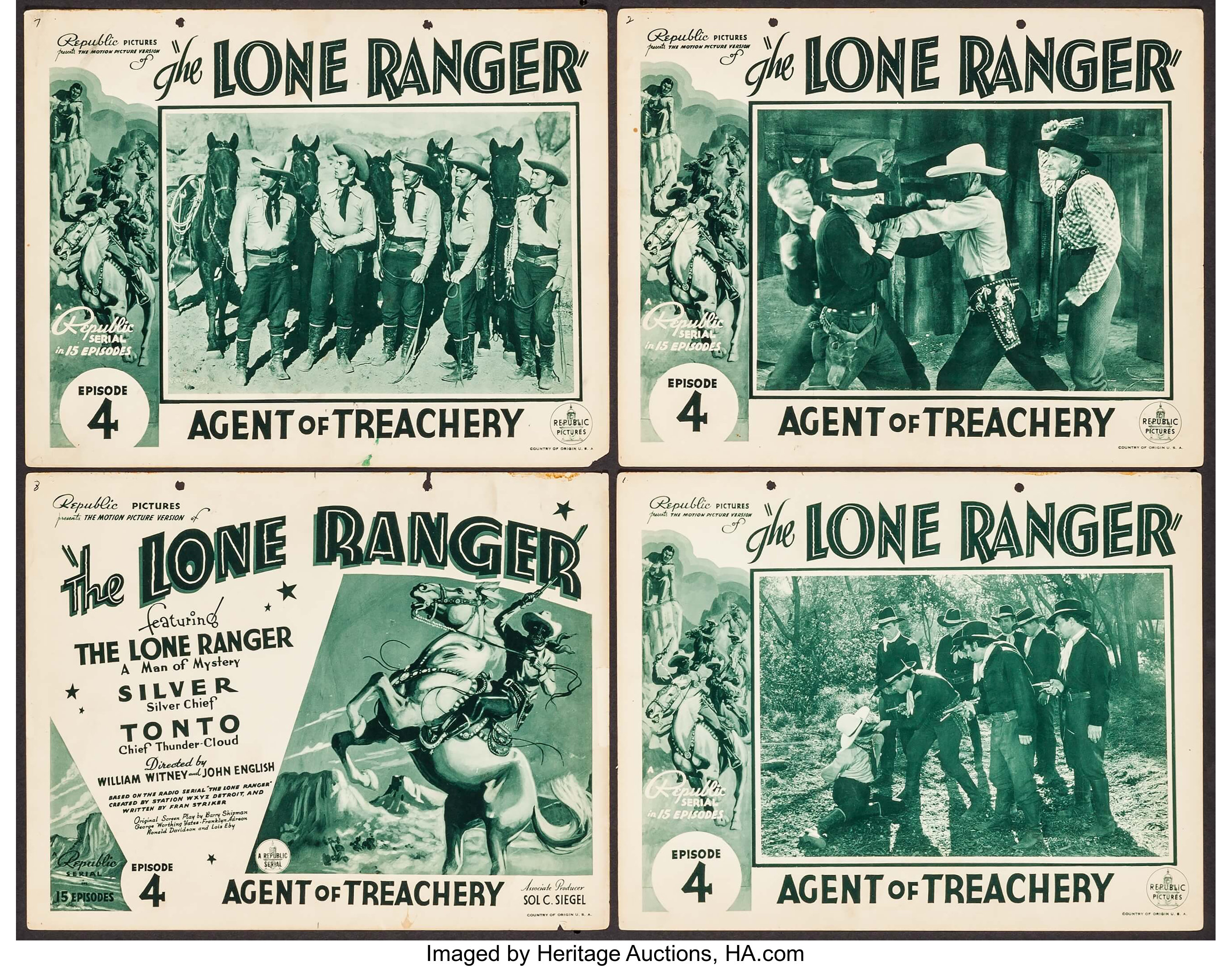 The Lone Ranger (Republic, 1938). Title Lobby Card & Lobby