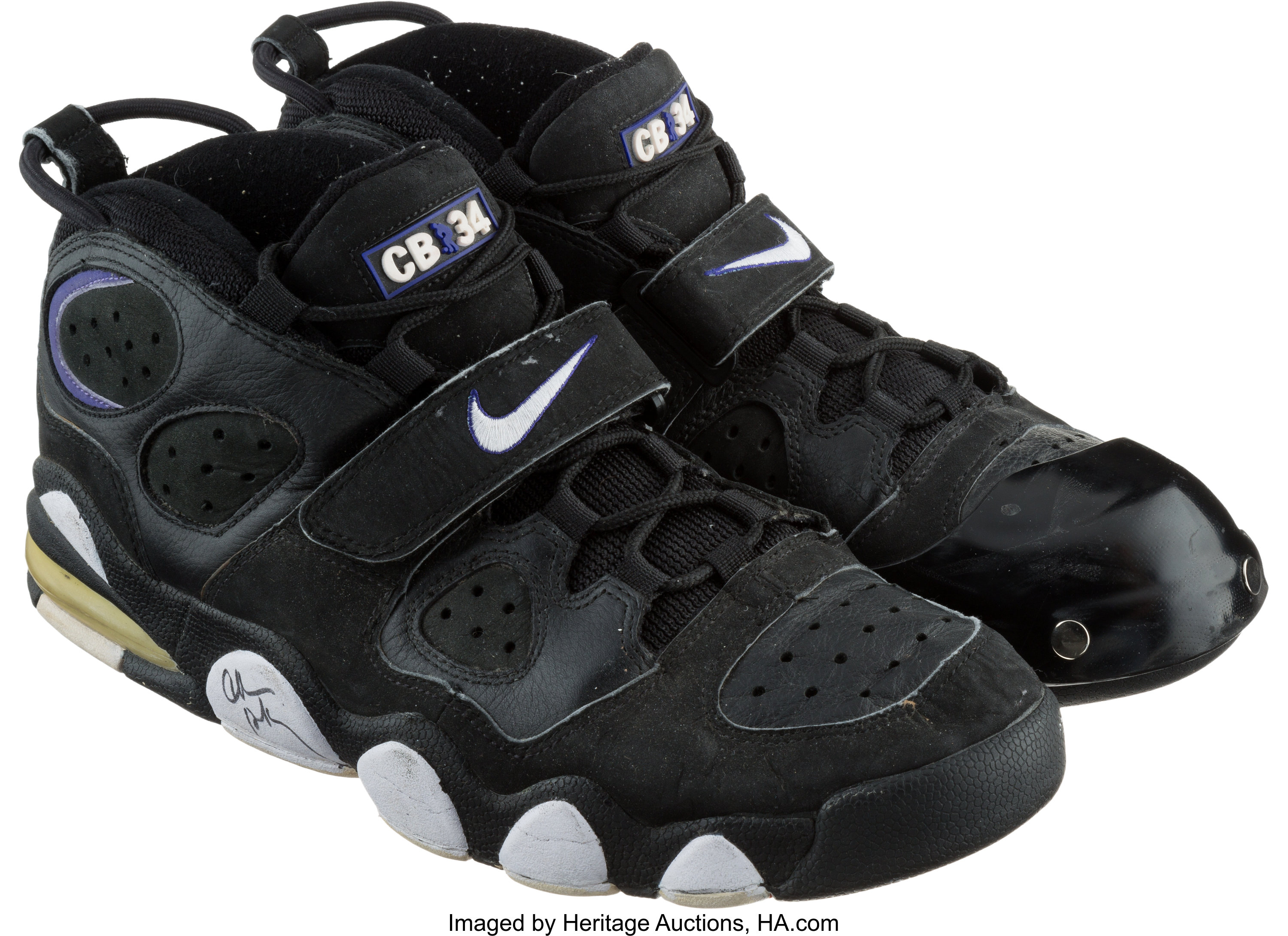 Circa 1996 Scottie Pippen Signed Game Used Nike Airs