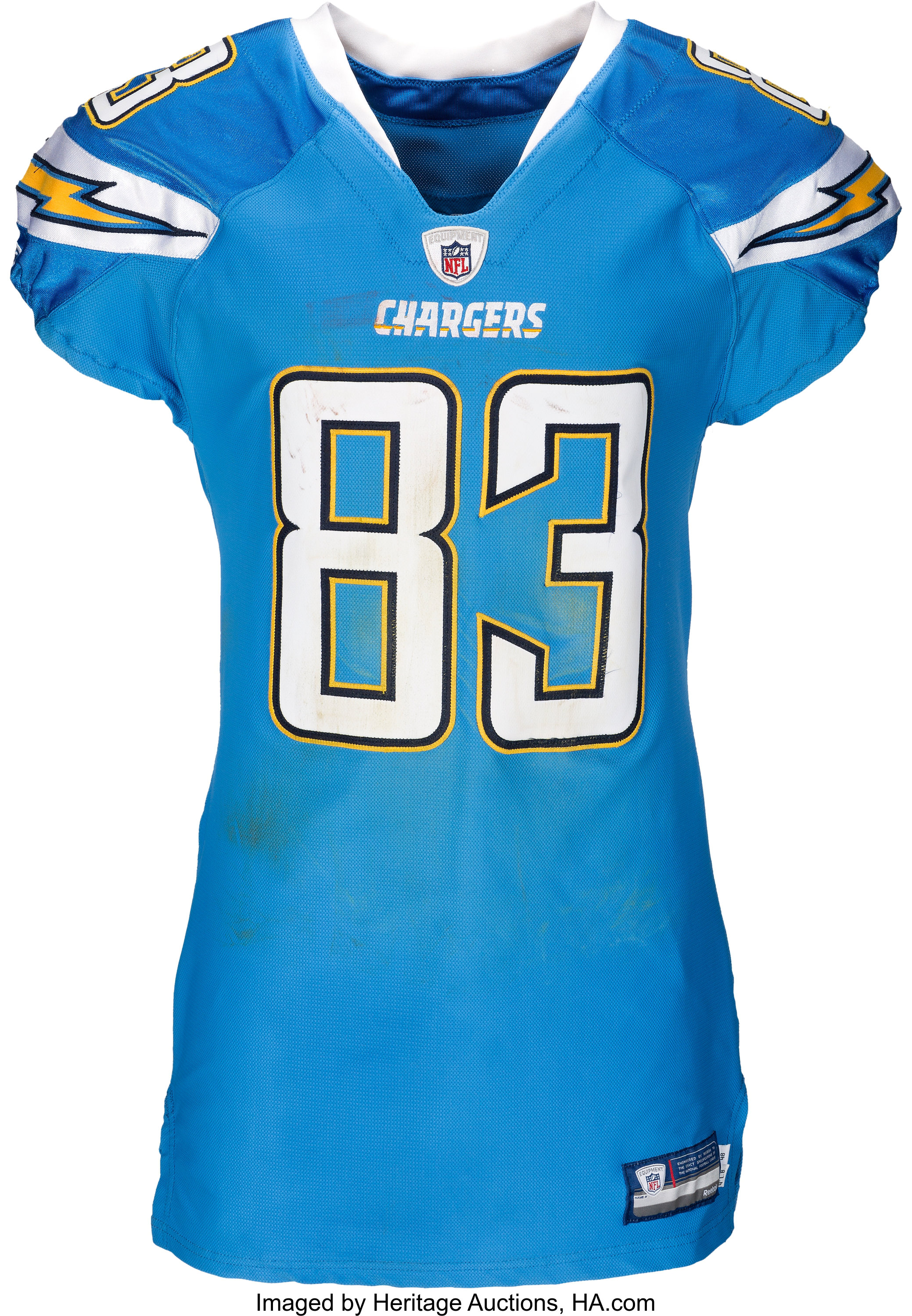 2011 Vincent Jackson Game Worn & Unwashed San Diego Chargers ...