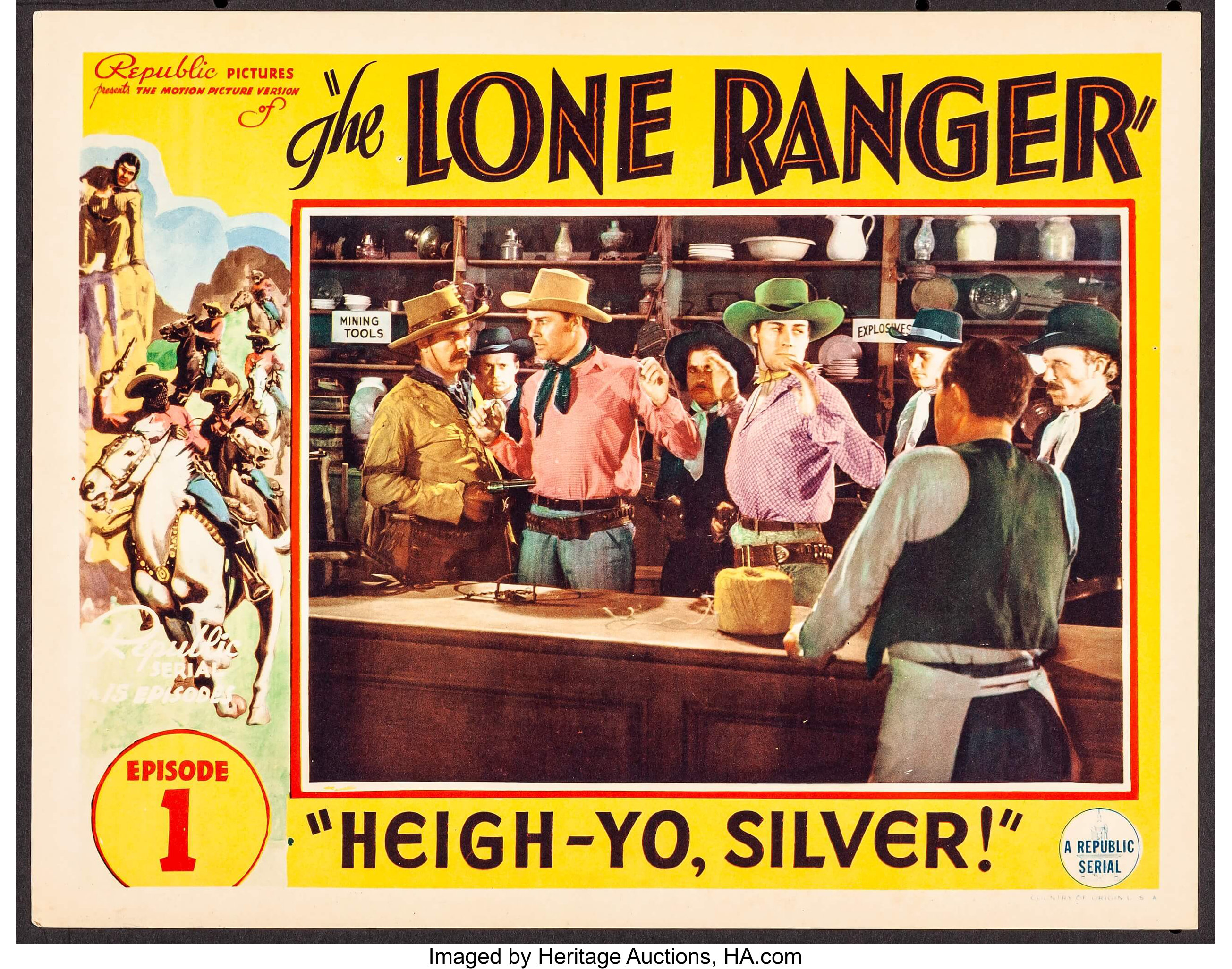 The Lone Ranger (Republic, 1938). Lobby Card (11