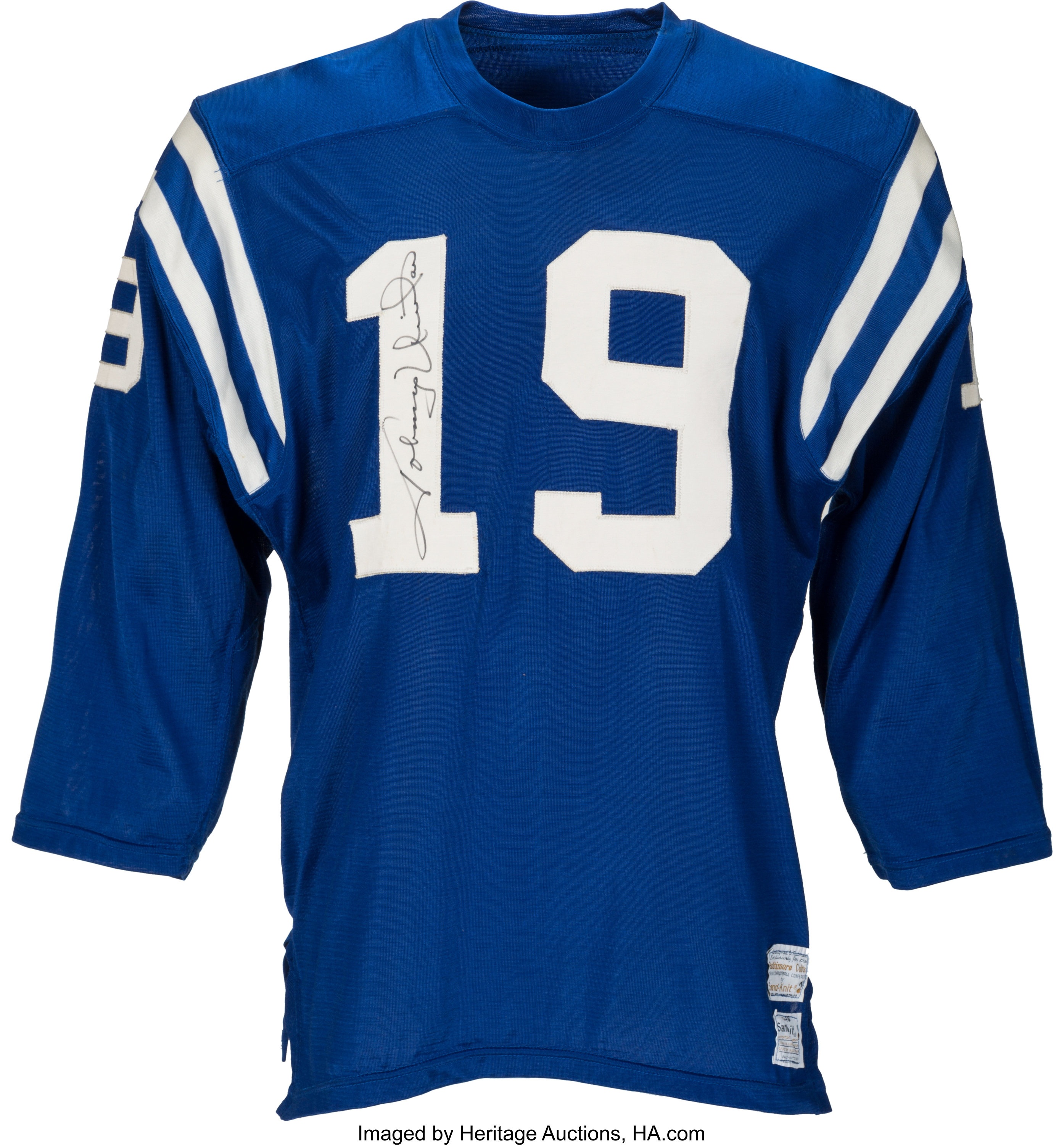1971-72 Johnny Unitas Game Worn & Signed Baltimore Colts | Lot ...