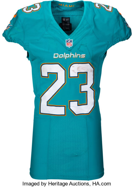 2015 Jay Ajayi Game Worn & Unwashed Miami Dolphins Jersey with ...