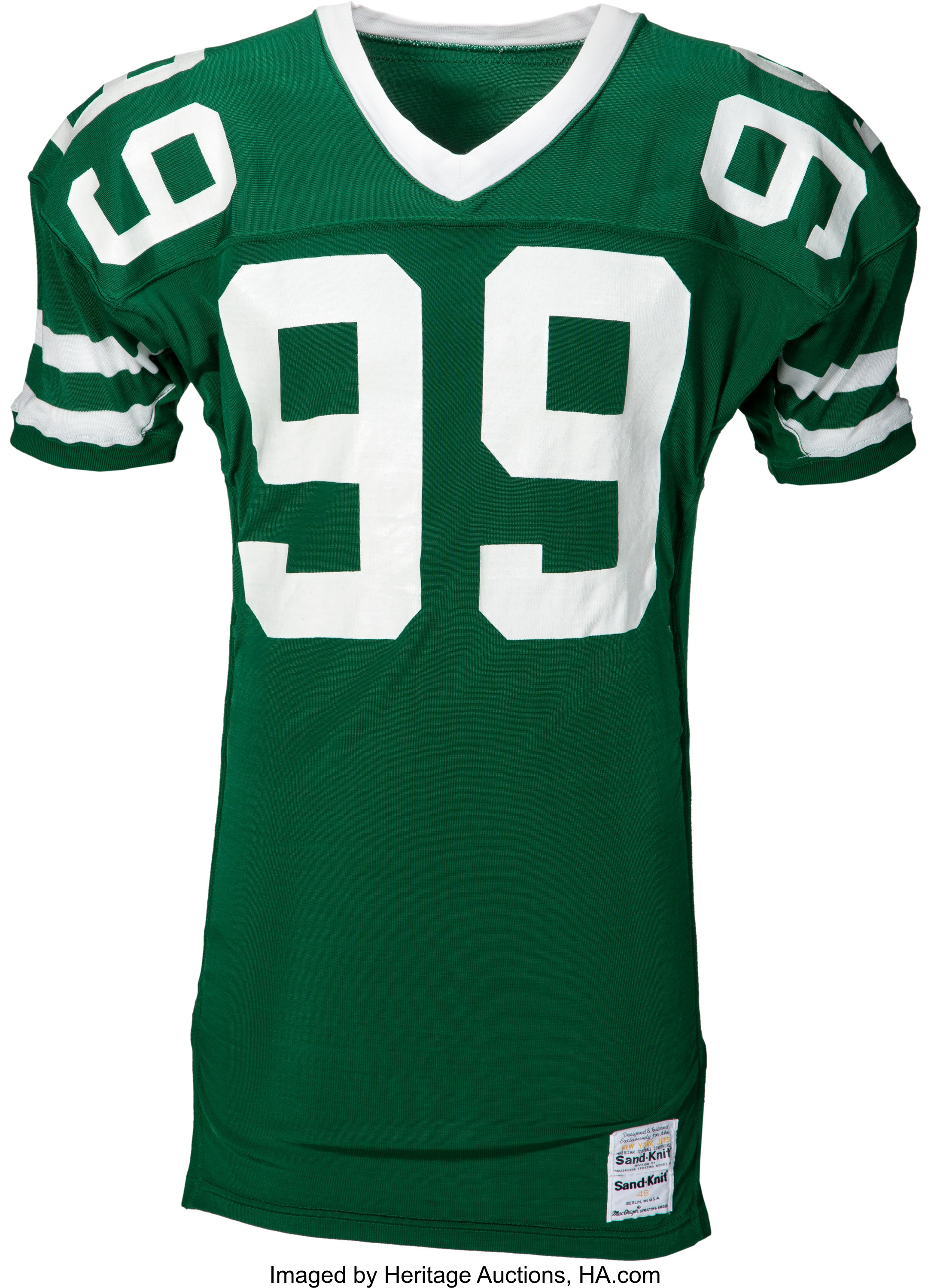 1987 Mark Gastineau Game Issued New York Jets Jersey.... Football ...