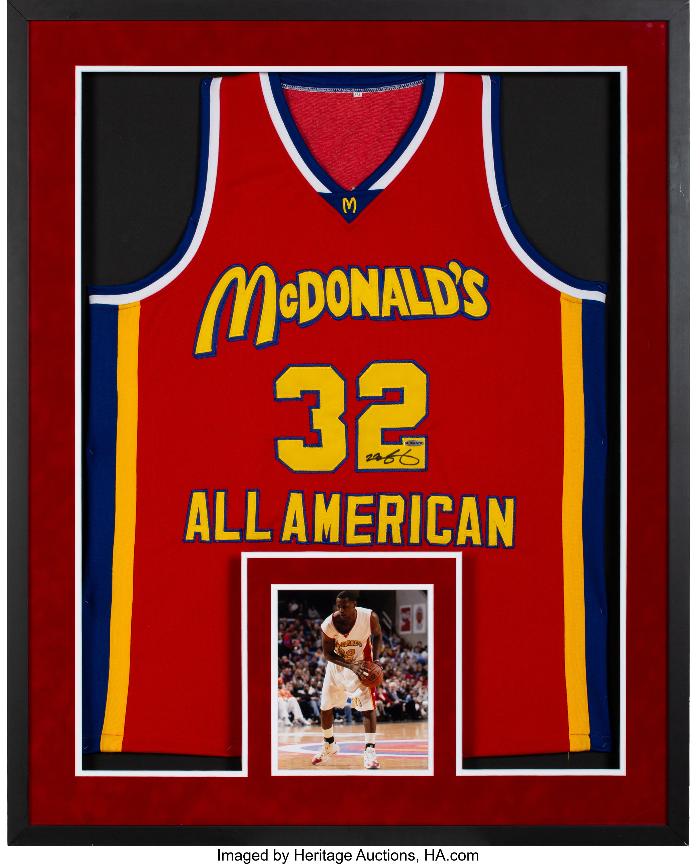 2000's LeBron James Signed UDA McDonald's All-American Jersey ...