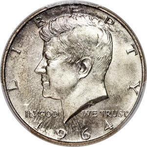 1964 Kennedy Half Dollar Sets $108,000 World Record for the Type