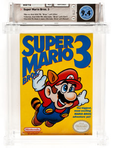 Super Mario Brothers 3 highest graded example sells for $5,000 video game