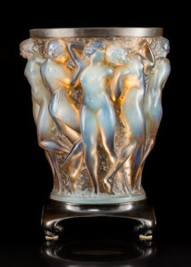 Lalique Opalescent Glass Bacchantes Vase