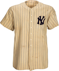 1937 Lou Gehrig game-worn New York Yankees jersey