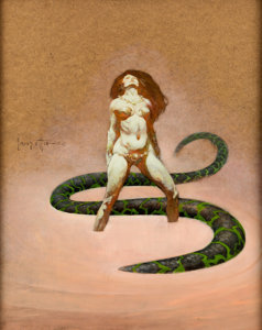 Frank Frazetta The Serpent original at at Heritage Auctions