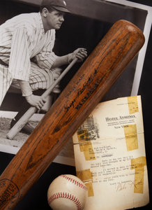 1921 Babe Ruth 52nd Home Run Game Used Hotel Ansonia Bat