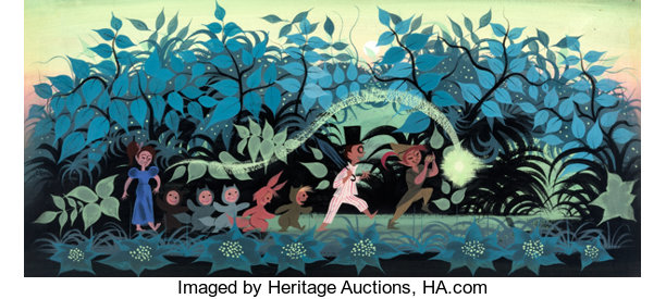 Mary Blair concept art for Peter Pan