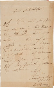 Beethoven letter sold for $275,000 at Heritage Auctions