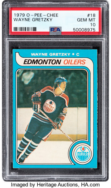 1979 O-Pee-Chee Wayne Gretzky #18 Rookie PSA Gem Mint 10 Heritage Auctions