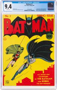 Batman comic book world record $2.22 million Heritage Auctions