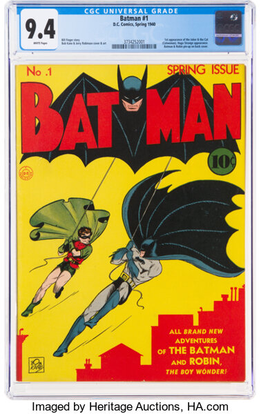 Batman No. 1 Heritage Auctions