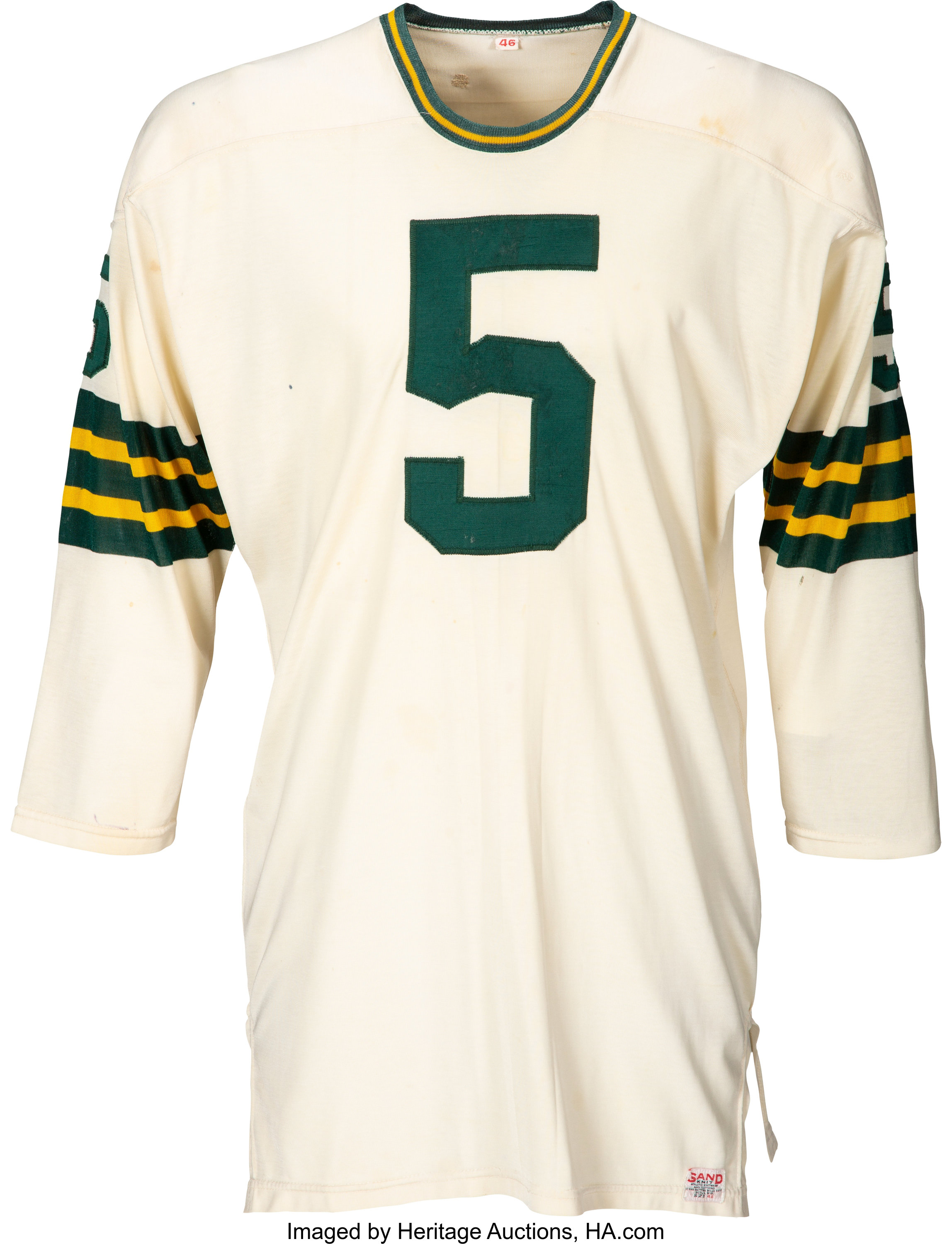 Mid-1960's Paul Hornung Game Worn Green Bay Packers Jersey, MEARS ...