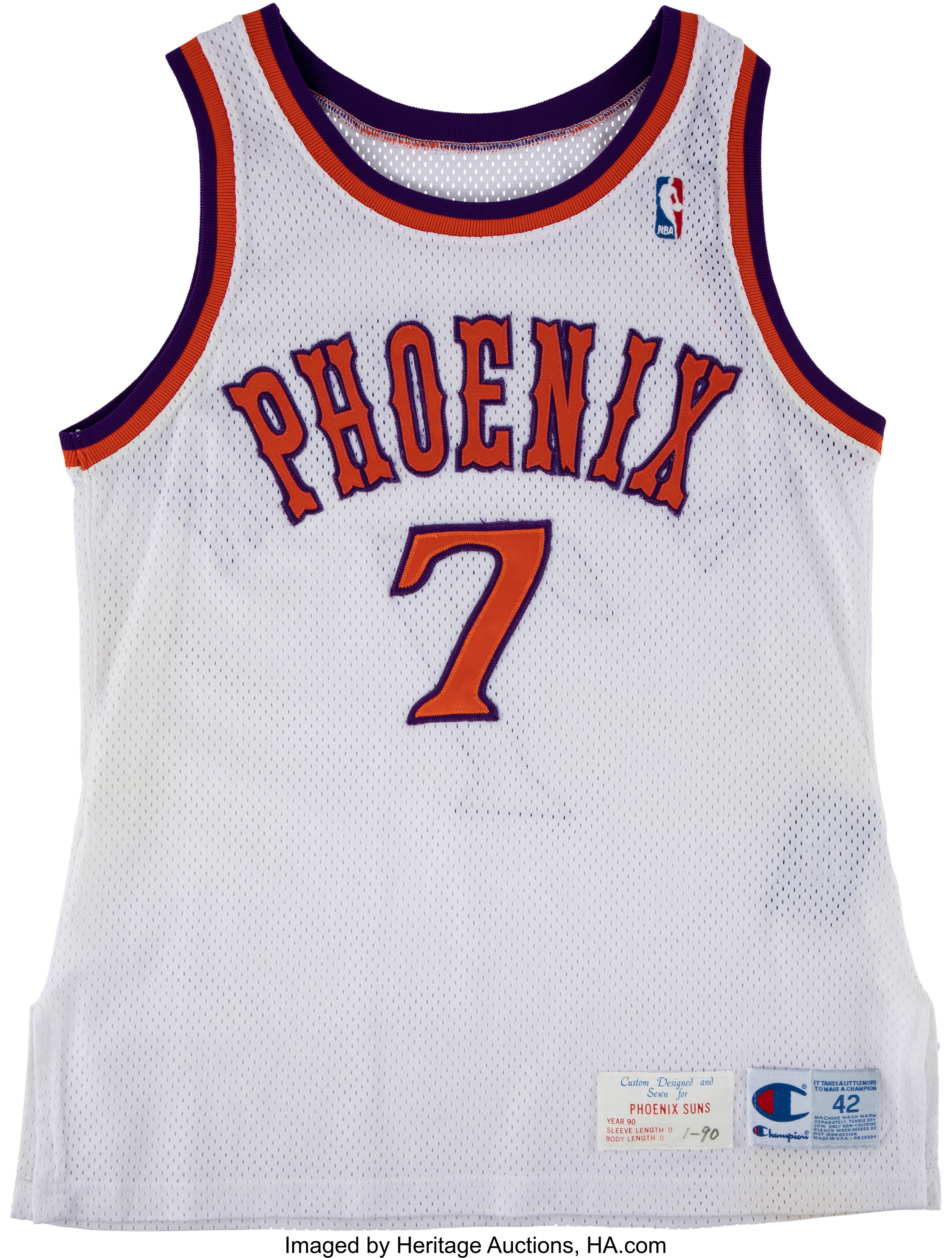 1990 Kevin Johnson Game Worn Phoenix Suns Jersey and Shorts ...