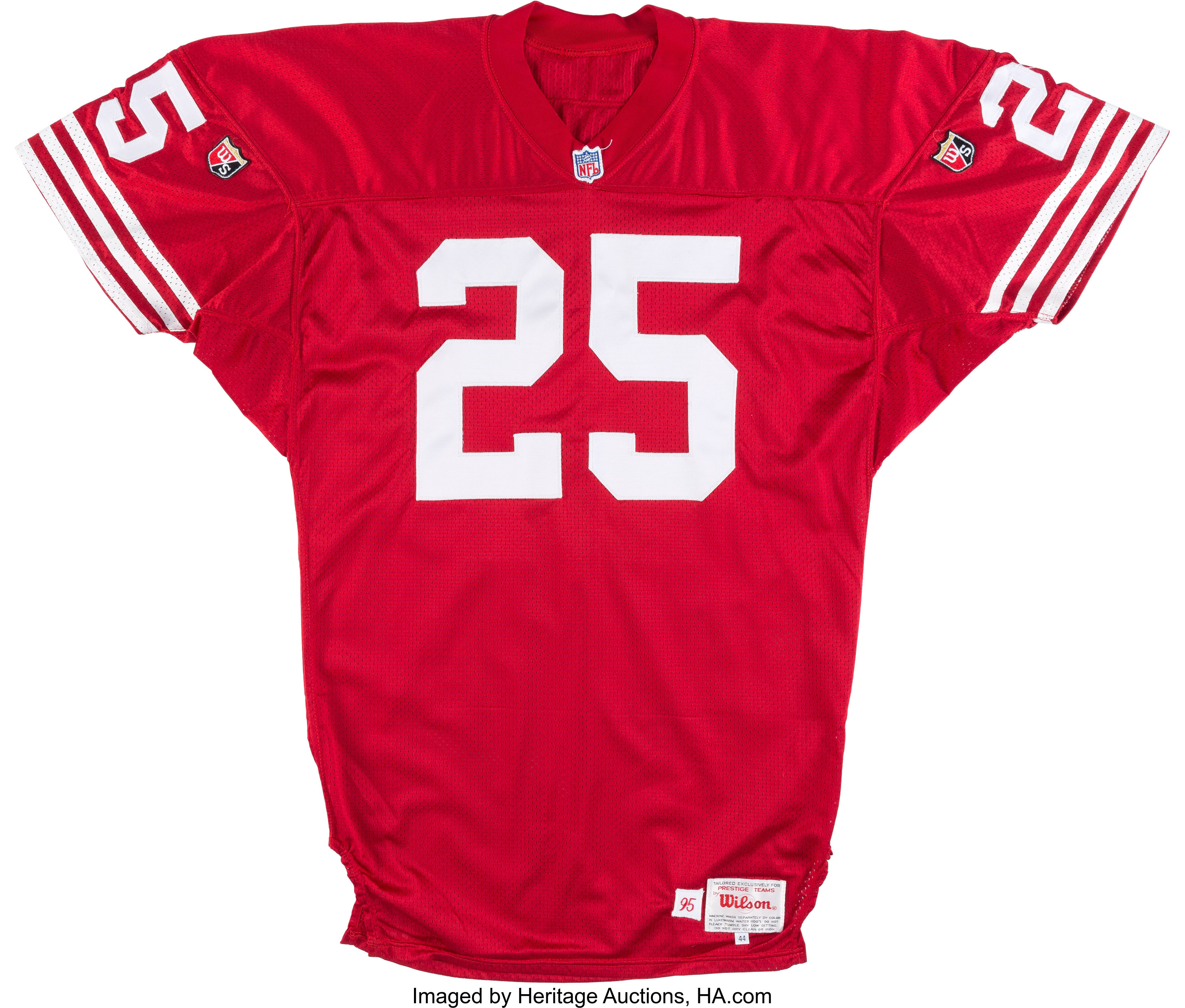 1995 Eric Davis Game Issued San Francisco 49ers Jersey from The ...