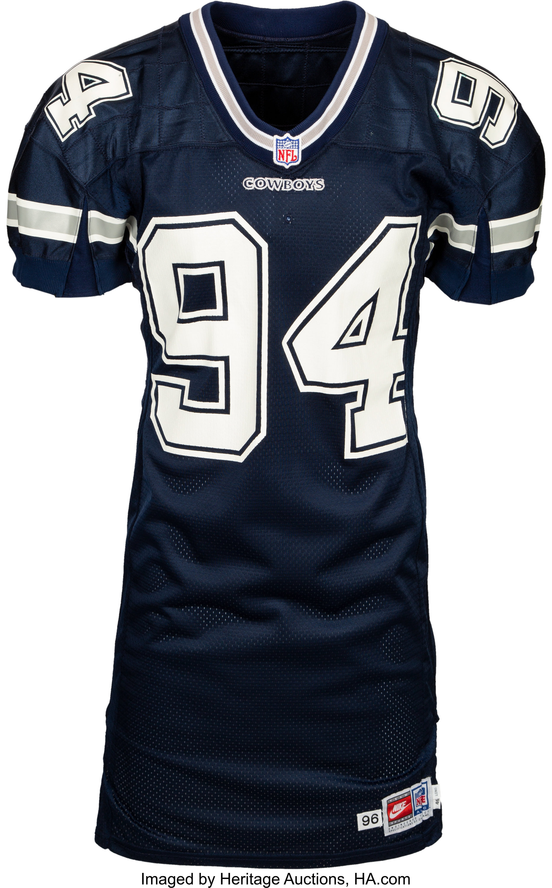 1996 Charles Haley Game Worn Dallas Cowboys Jersey - Used 10/27 vs ...