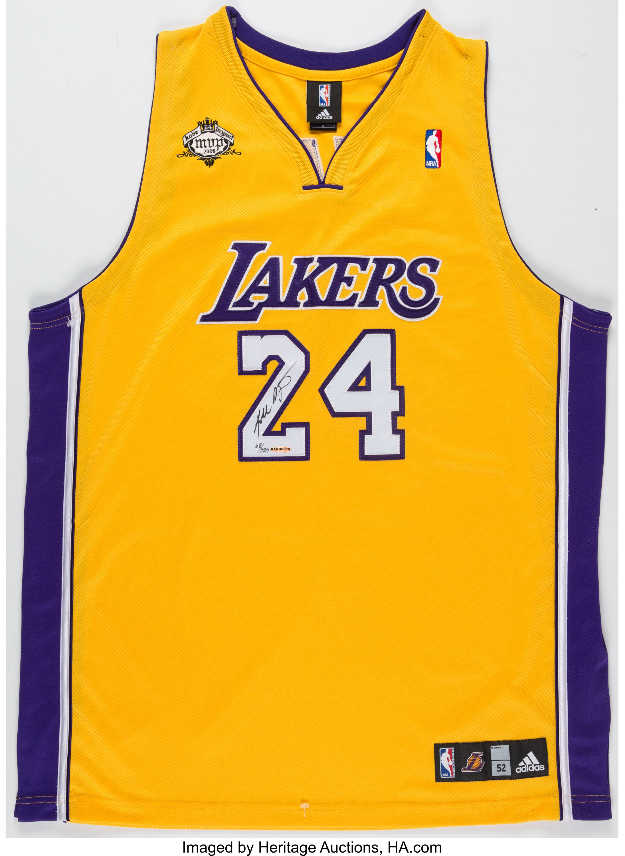 Kobe Bryant Signed Limited Edition Los Angeles Lakers Jersey ...