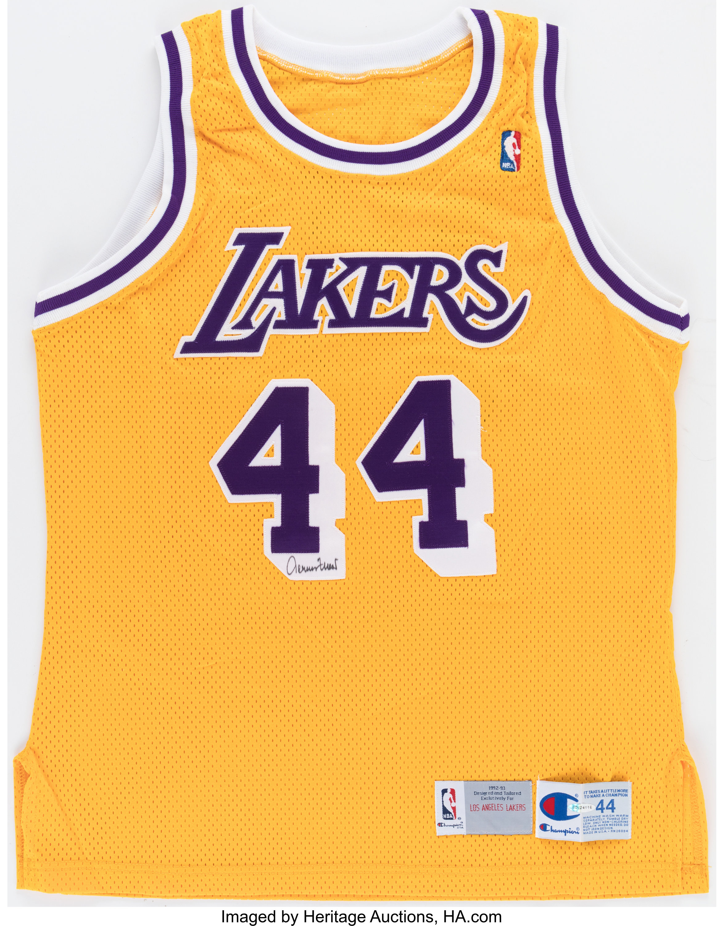 Jerry West Signed Los Angeles Lakers Jersey, Upper Deck   Lot ...