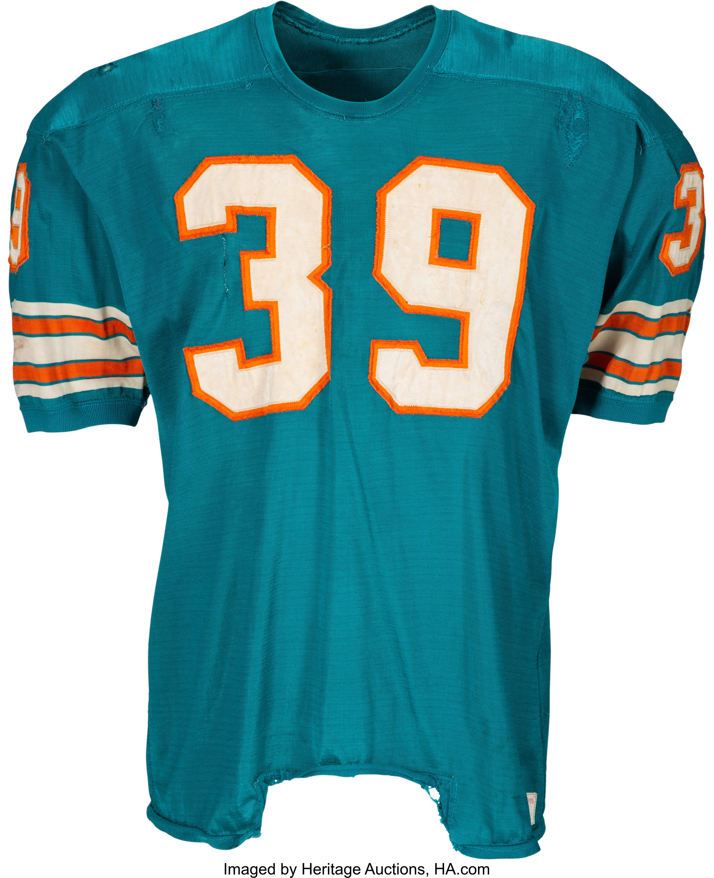 1969 Larry Csonka Game Worn & Signed Miami Dolphins Jersey--Photo ...