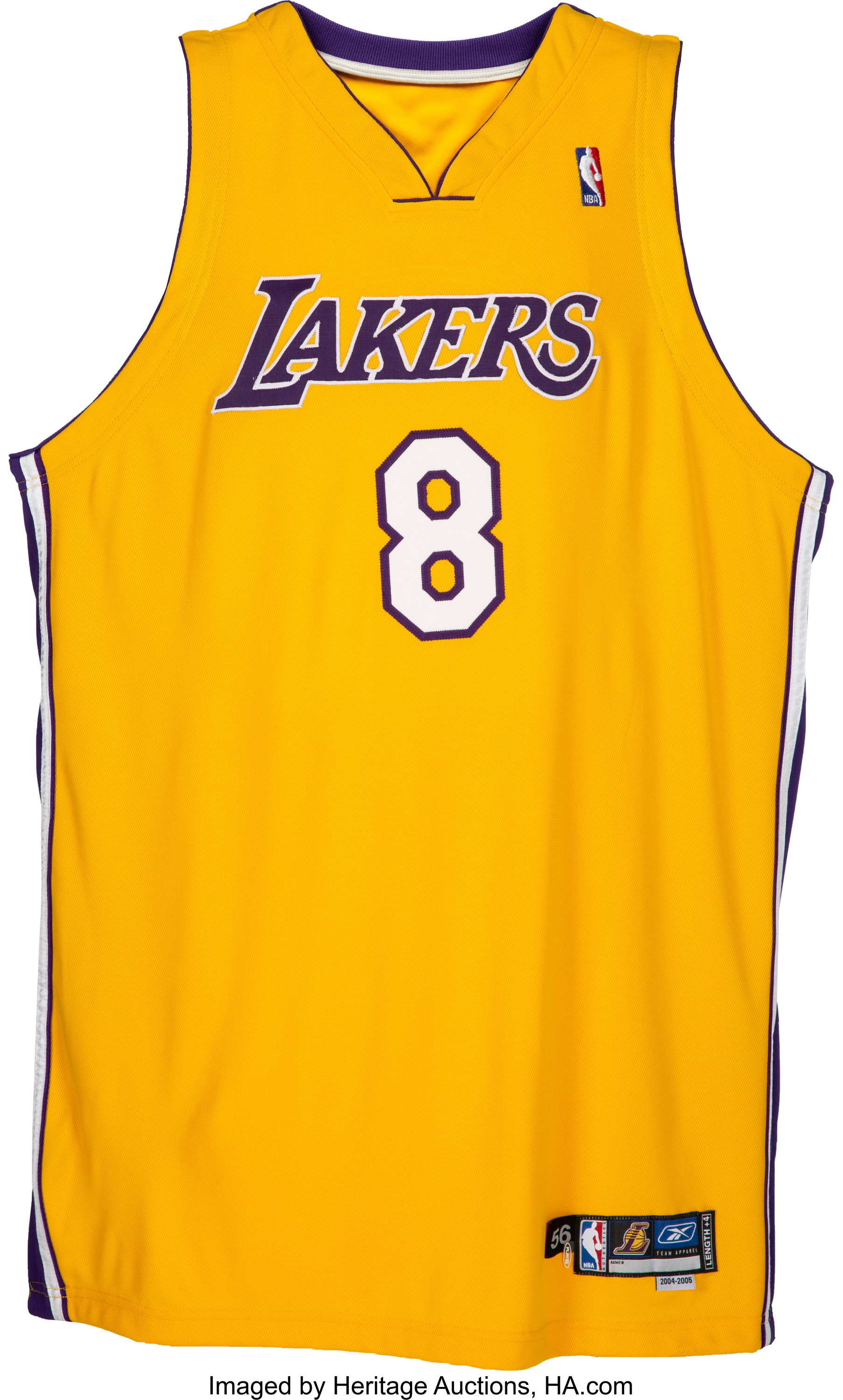 2004-05 Kobe Bryant Game Worn & Signed Los Angeles Lakers Jersey ...